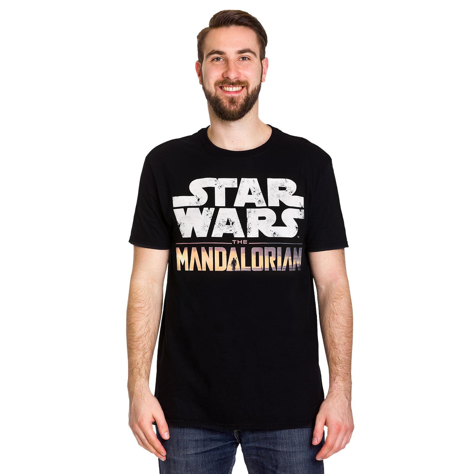 The Mandalorian Logo Intro T-Shirt schwarz - Star Wars