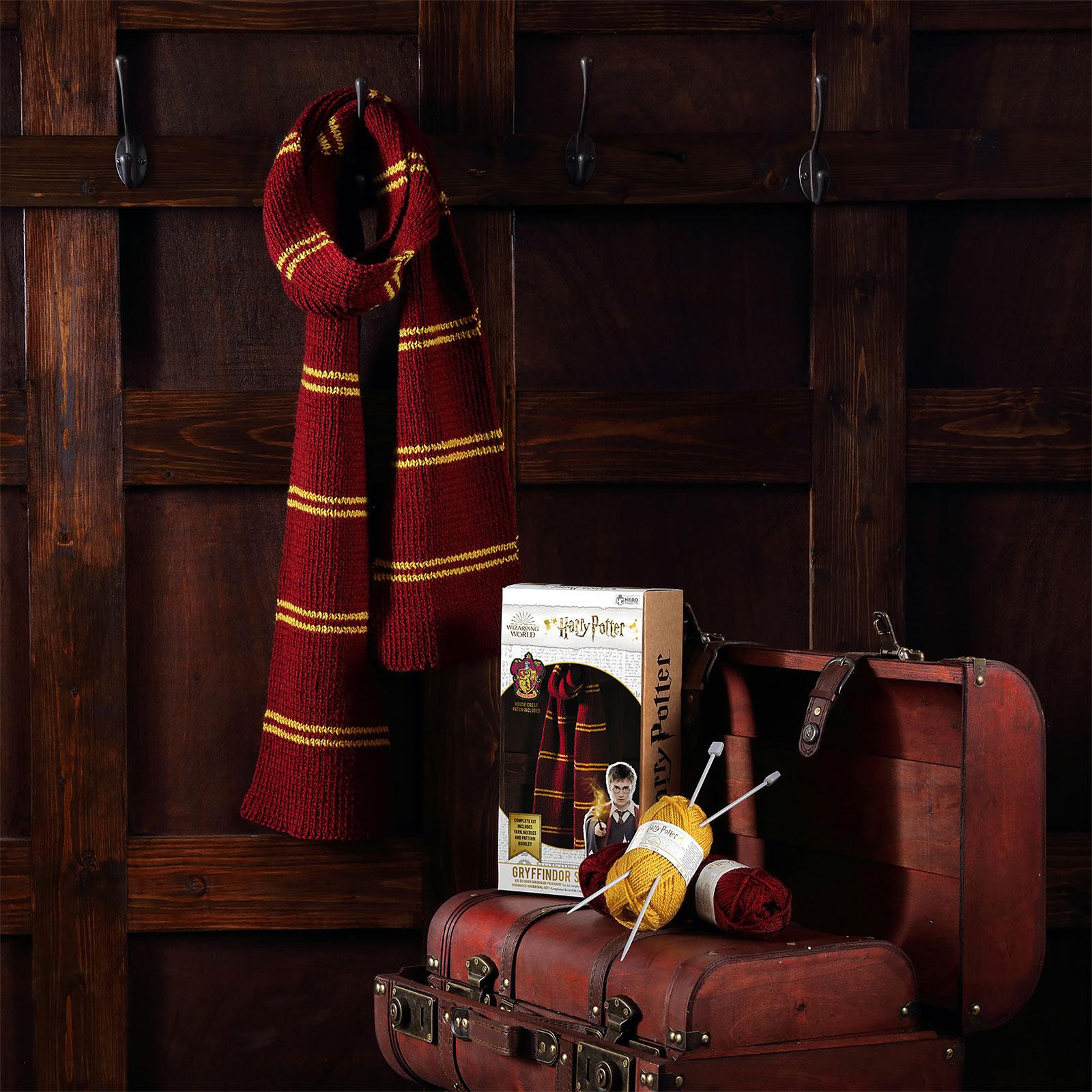 Harry Potter - Gryffindor Schal Strick-Set