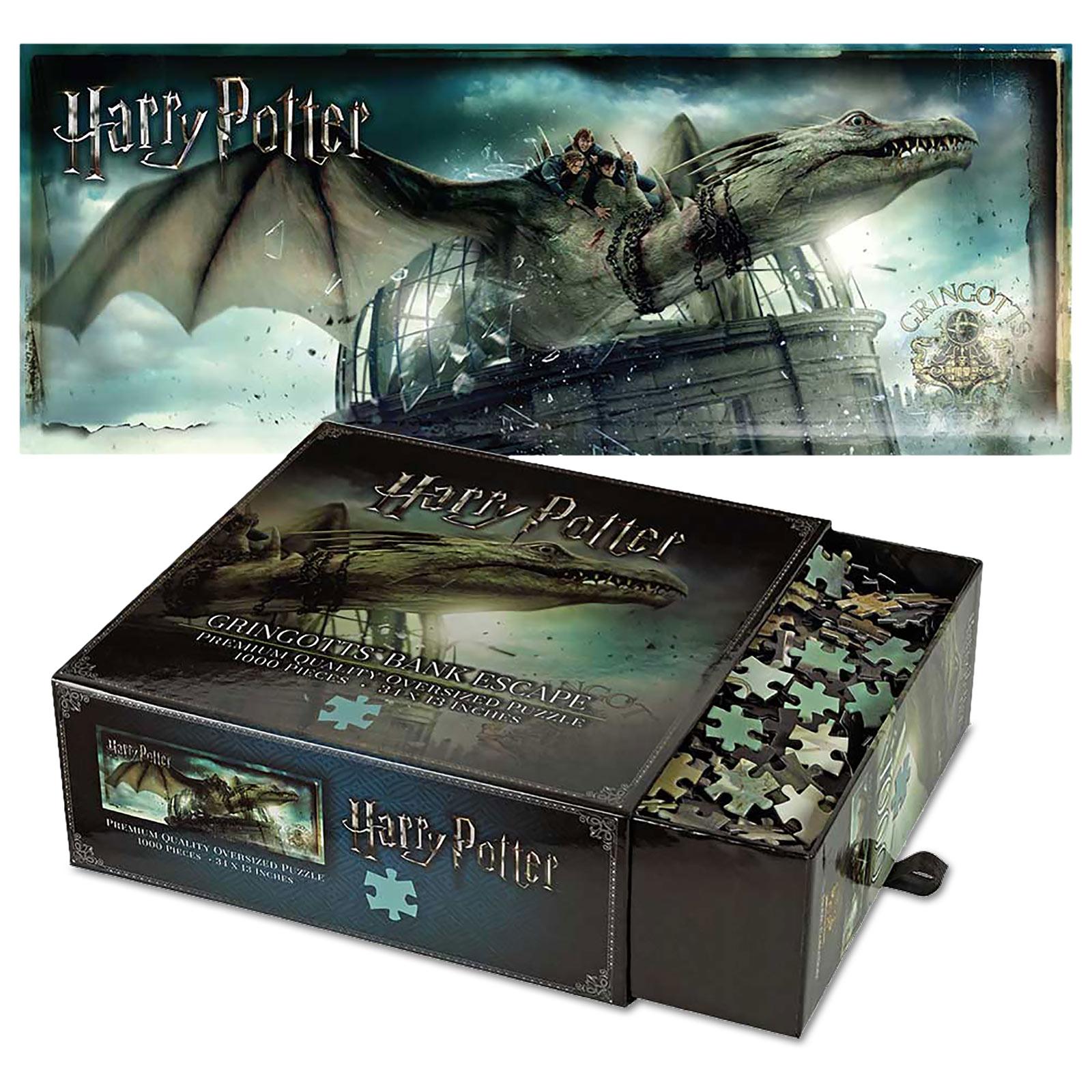 Harry Potter - Gringotts Bank mit Drache Premium Puzzle