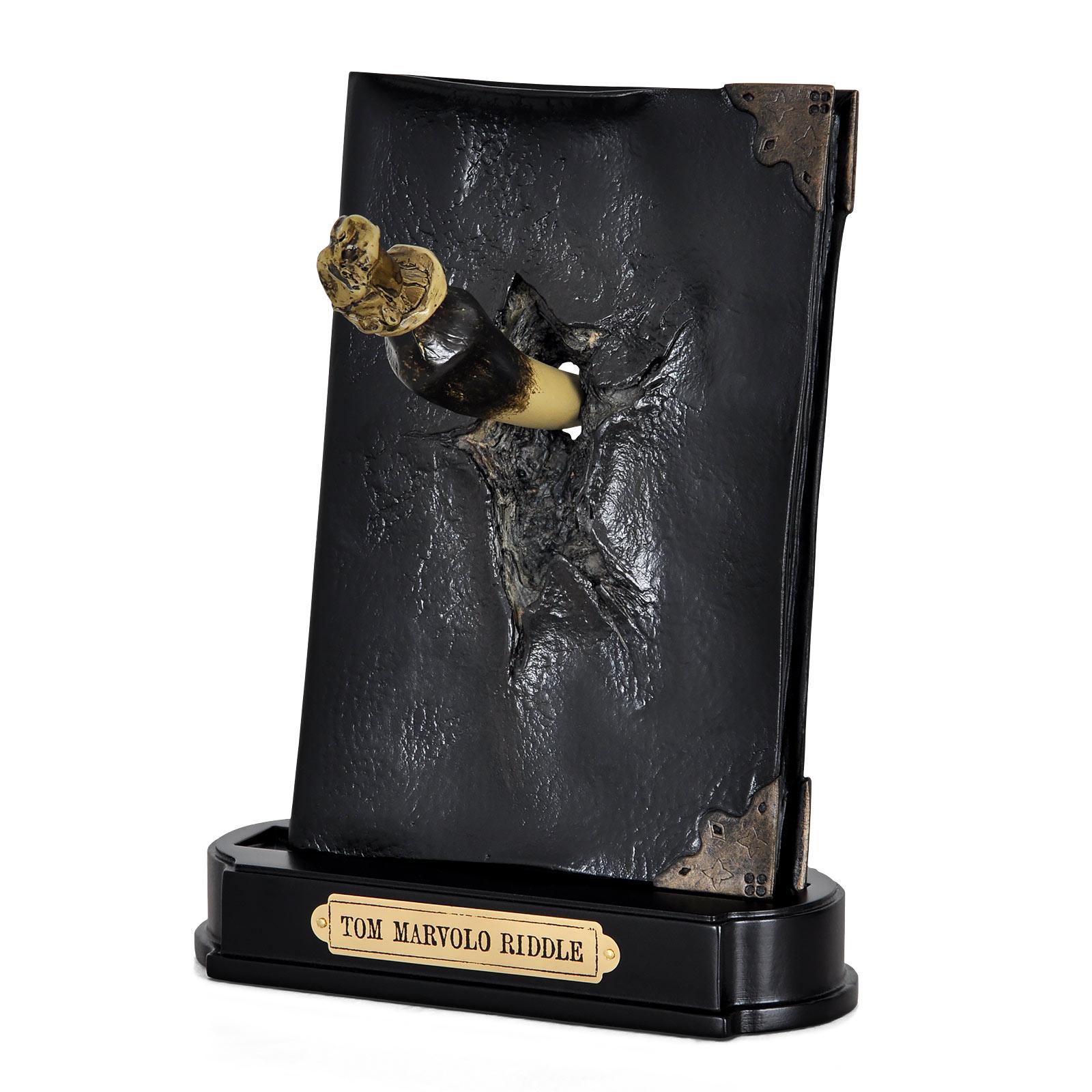 Harry Potter - Riddle Tagebuch Statue mit Basiliskenzahn