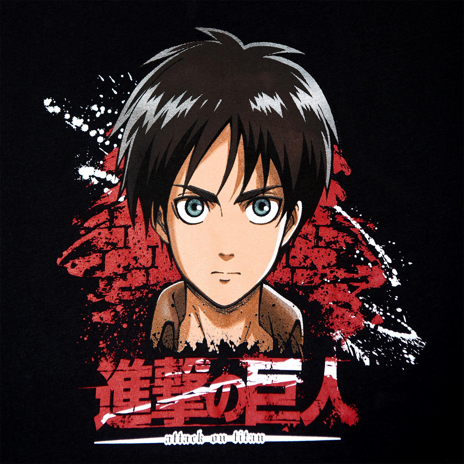 Attack on Titan - Eren Jaeger T-Shirt schwarz