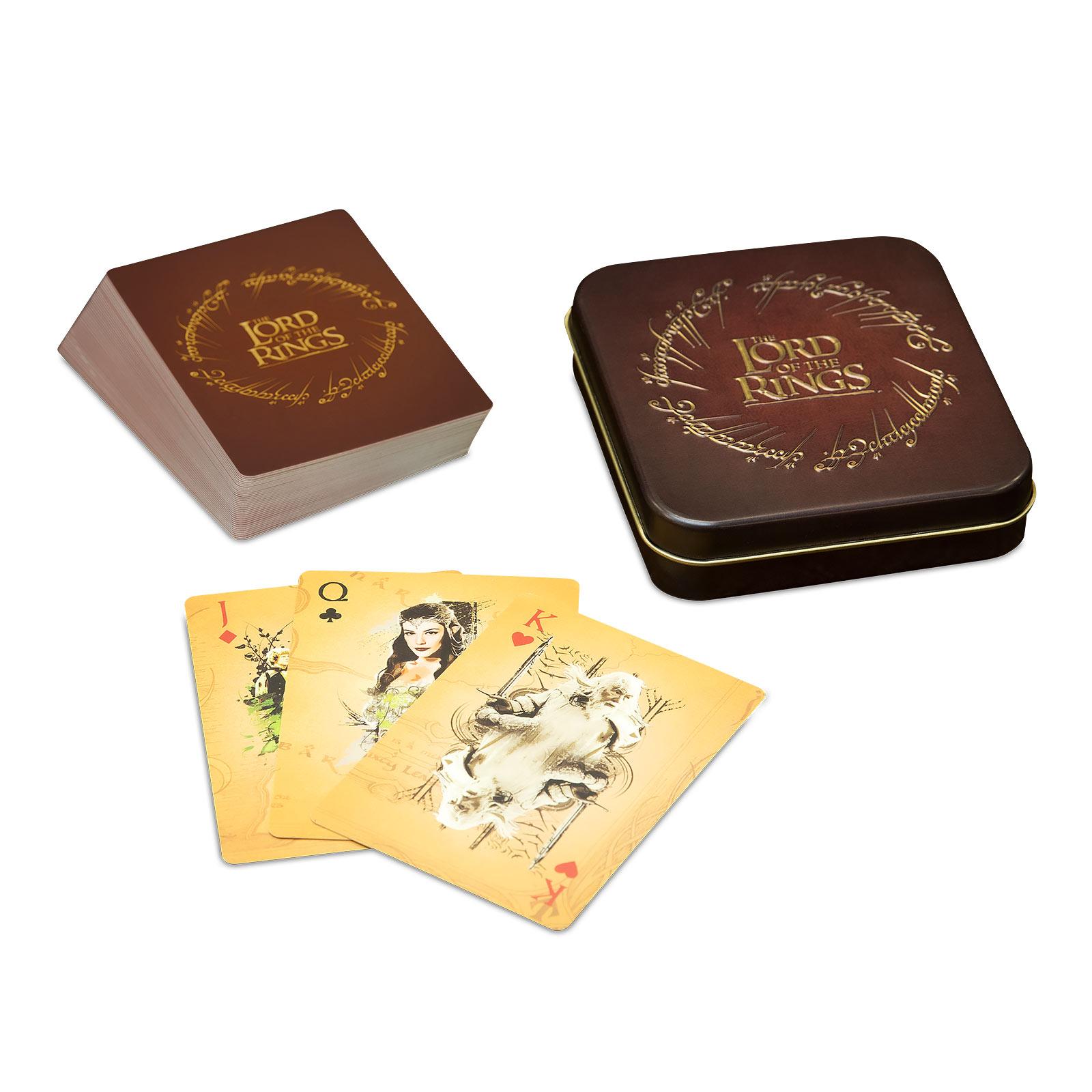 Herr der Ringe Spielkarten in Metallbox