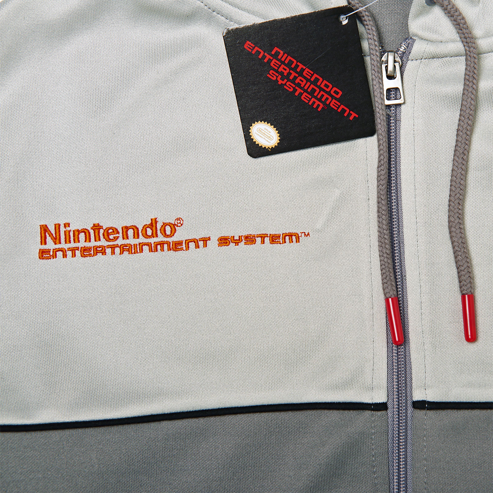 Nintendo - NES Kapuzenjacke grau