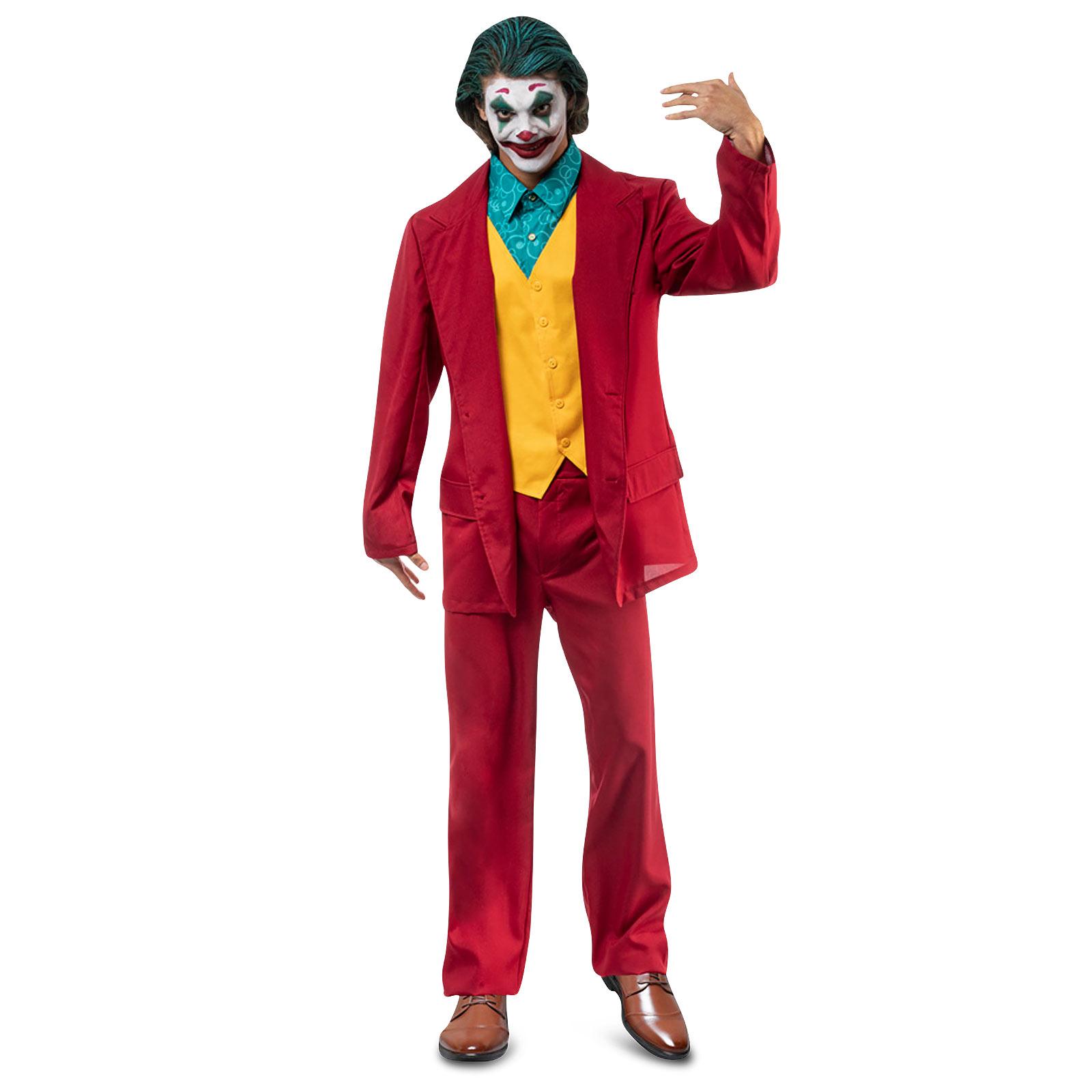 Mr. Crazy Kostüm Film Anzug für Joker Fans rot
