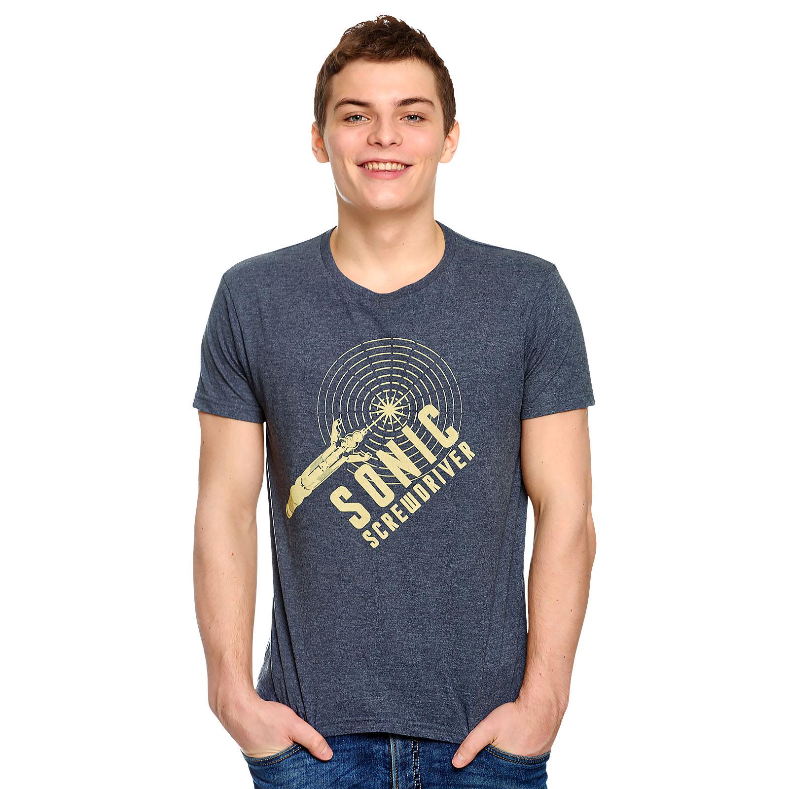 Doctor Who - Sonic Screwdriver T-Shirt blau