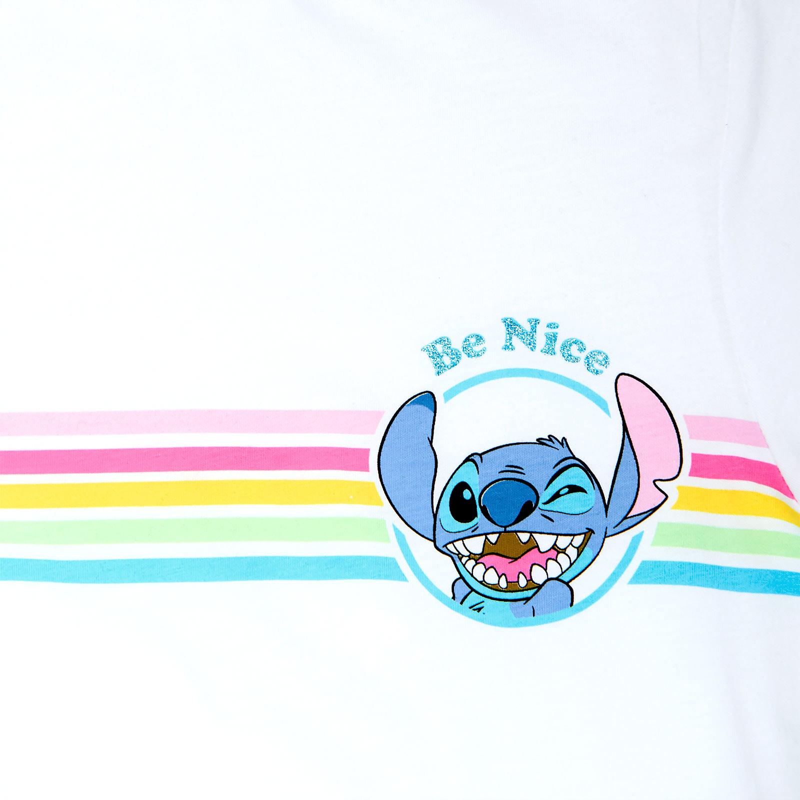 Lilo & Stitch - Be Nice T-Shirt Damen weiß