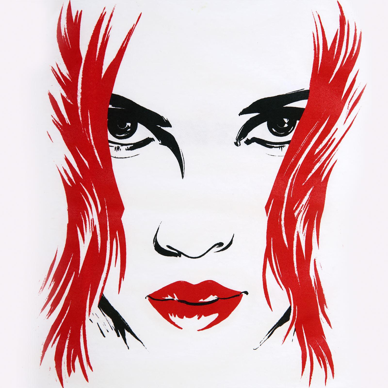 Black Widow - Big Face T-Shirt Damen weiß