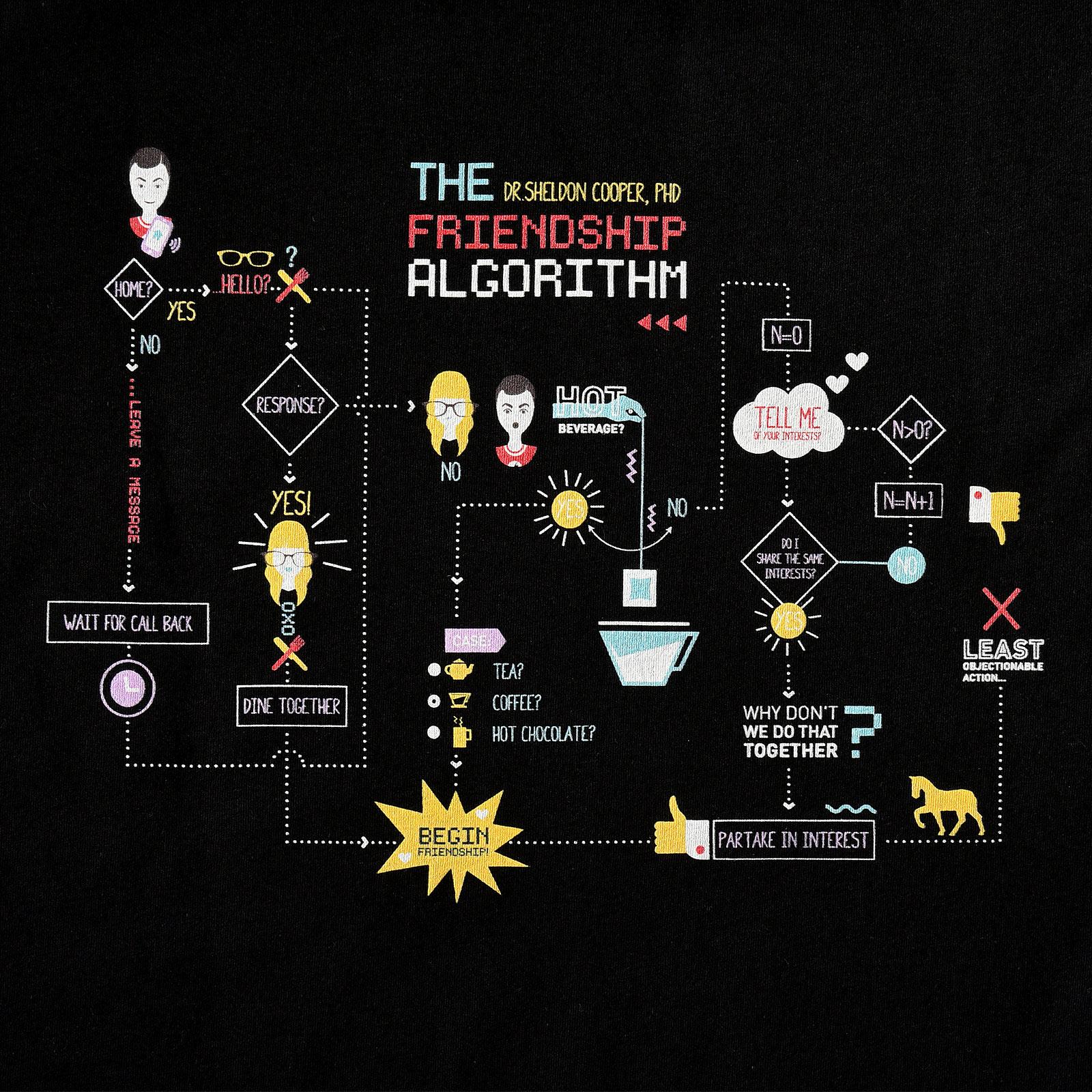 The Big Bang Theory - Freundschaftsalgorithmus T-Shirt schwarz