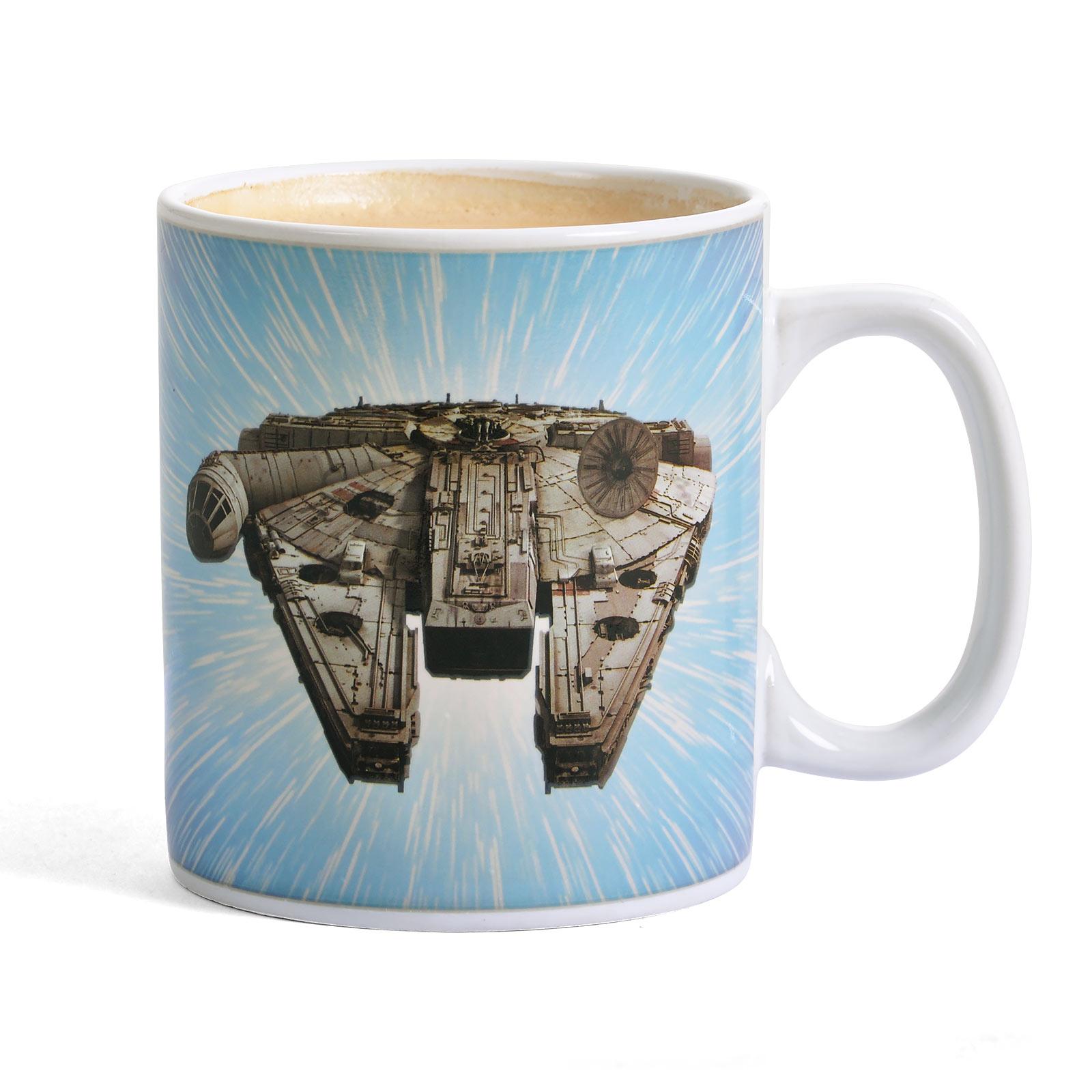 Star Wars - Millennium Falcon Thermoeffekt Tasse