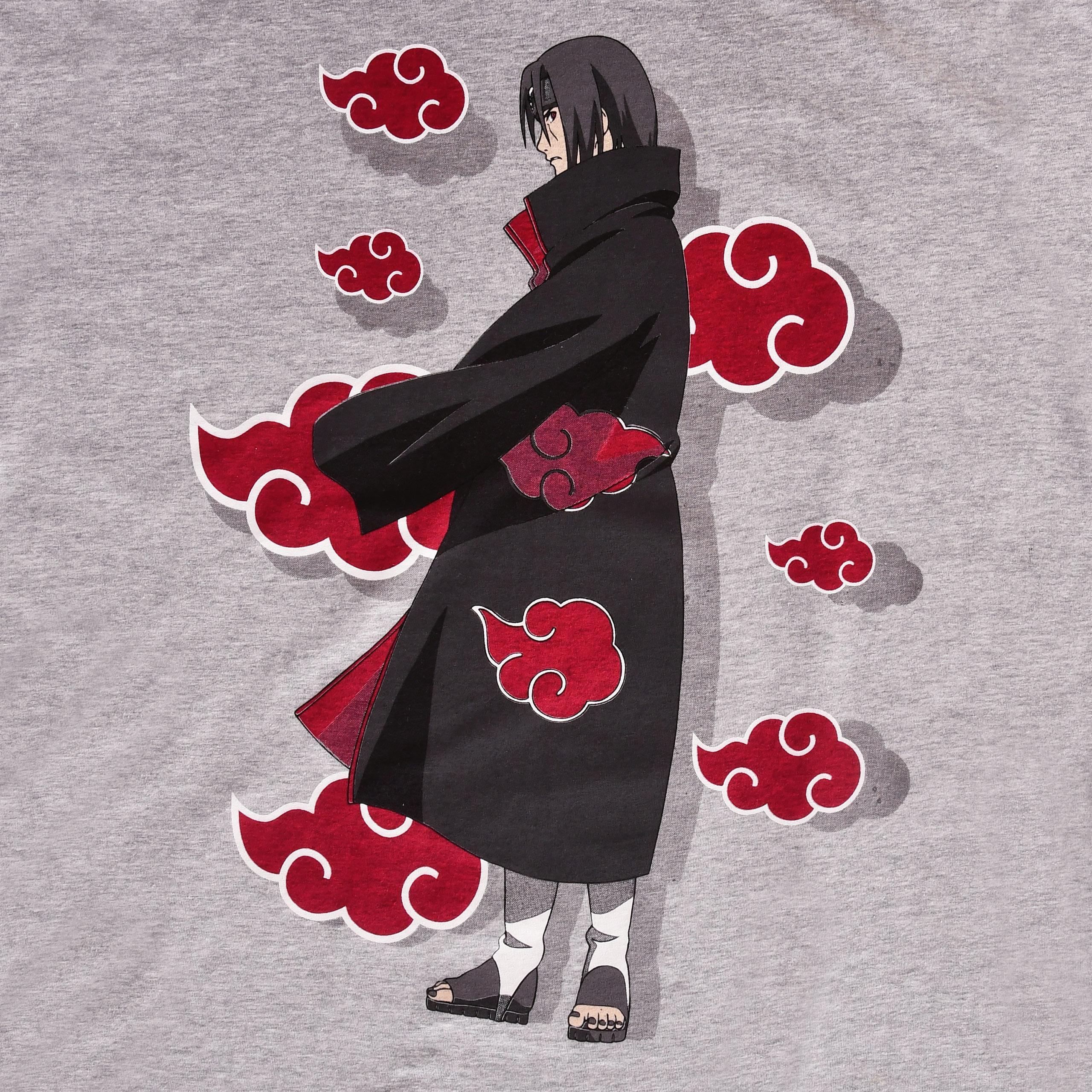 Naruto - Itachi Akatsuki T-Shirt grau