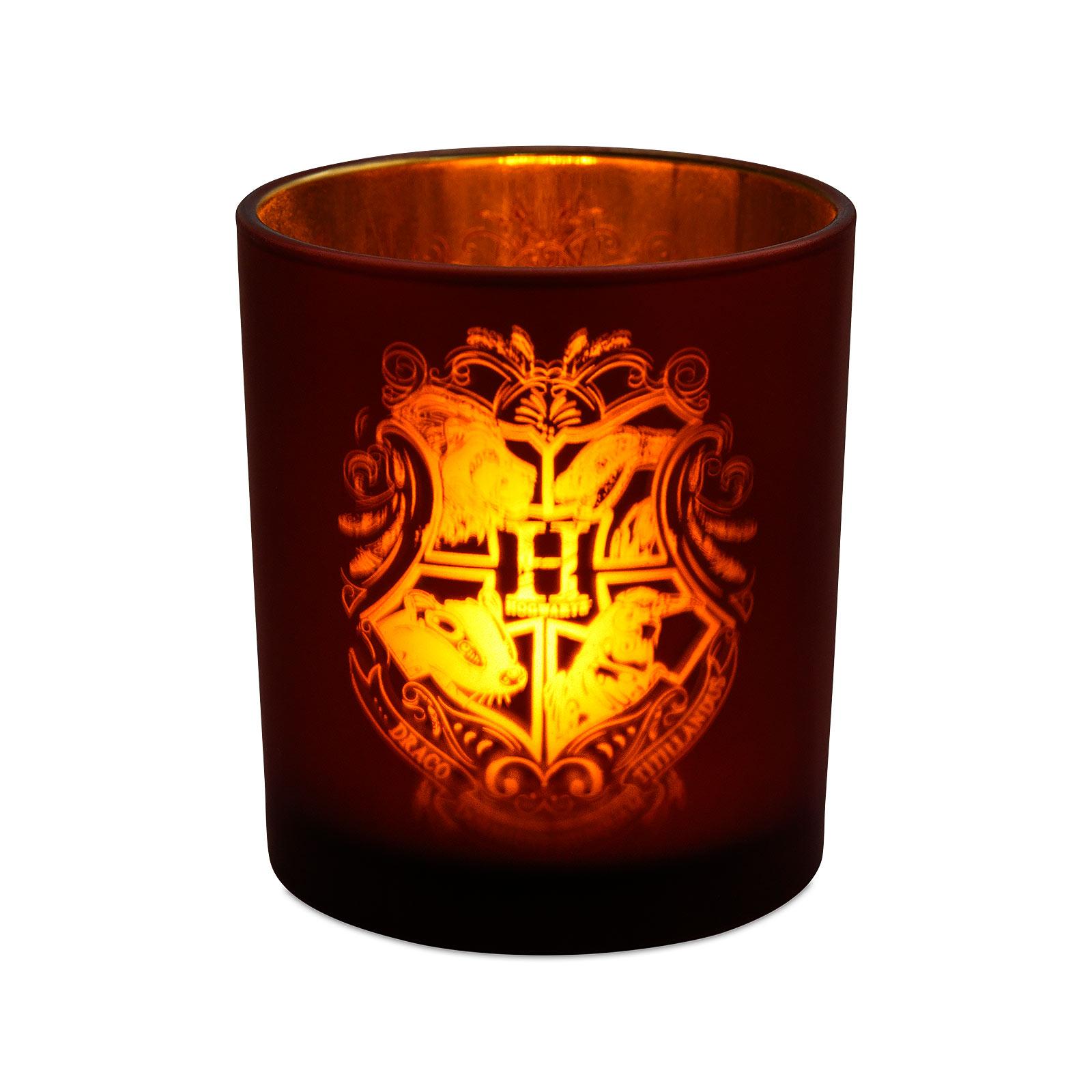 Harry Potter - Hogwarts Teelichthalter mit LED Teelicht