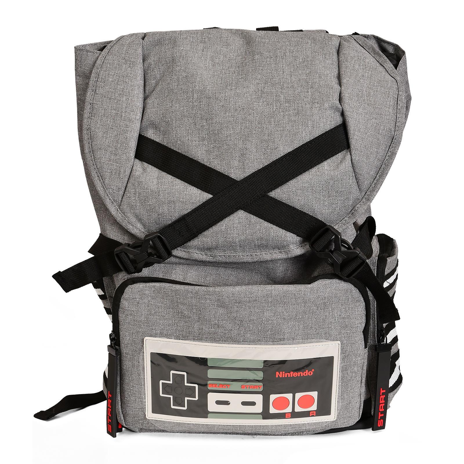 Nintendo - NES Controller Rucksack grau