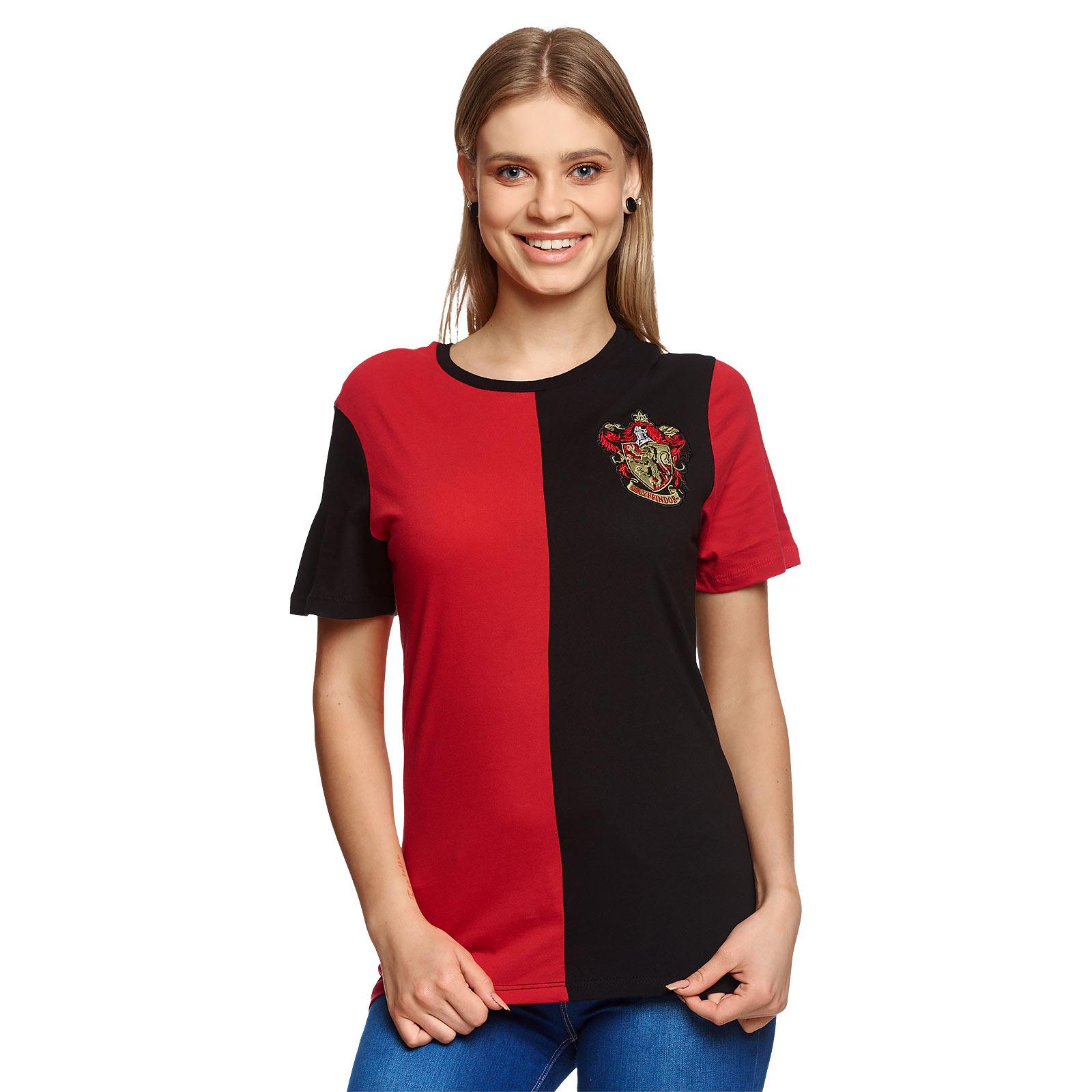 Harry Potter - Gryffindor Tournament T-Shirt rot-schwarz