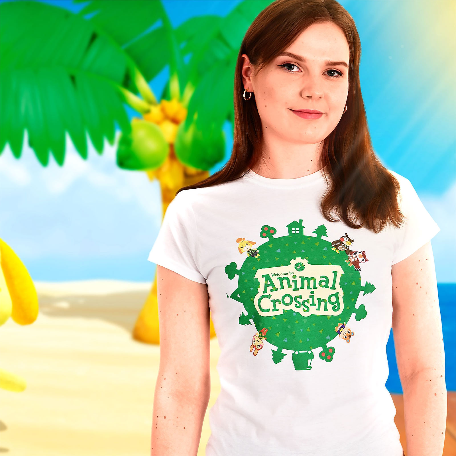 Animal Crossing - Logo T-Shirt Damen weiß