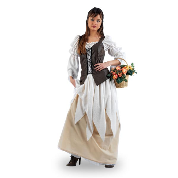 Mittelalterliches Blumenmädchen
