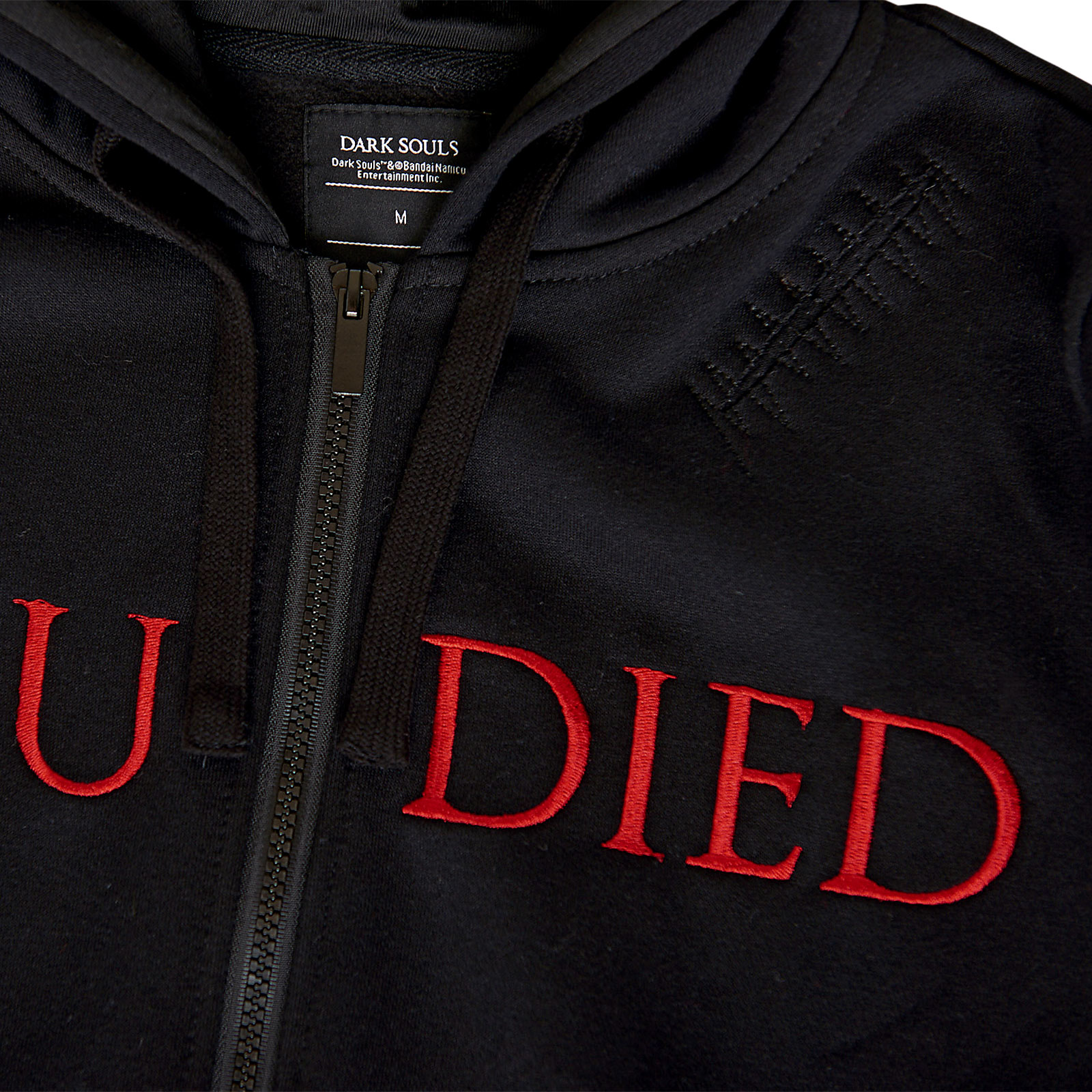 Dark Souls - You Died Destroyed Kapuzenjacke schwarz