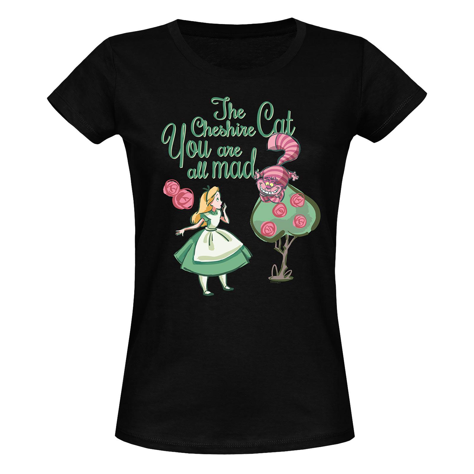 Alice im Wunderland - All Mad T-Shirt Damen schwarz