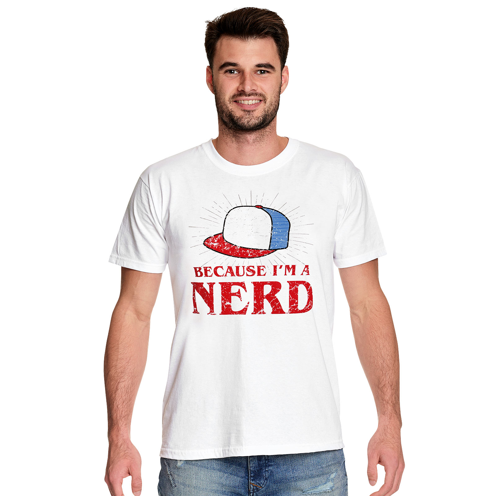 Dustin Nerd T-Shirt für Stranger Things Fans weiß
