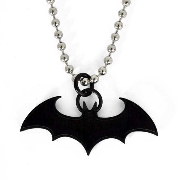 Batman - Fledermaus Anhänger schwarz an Kette
