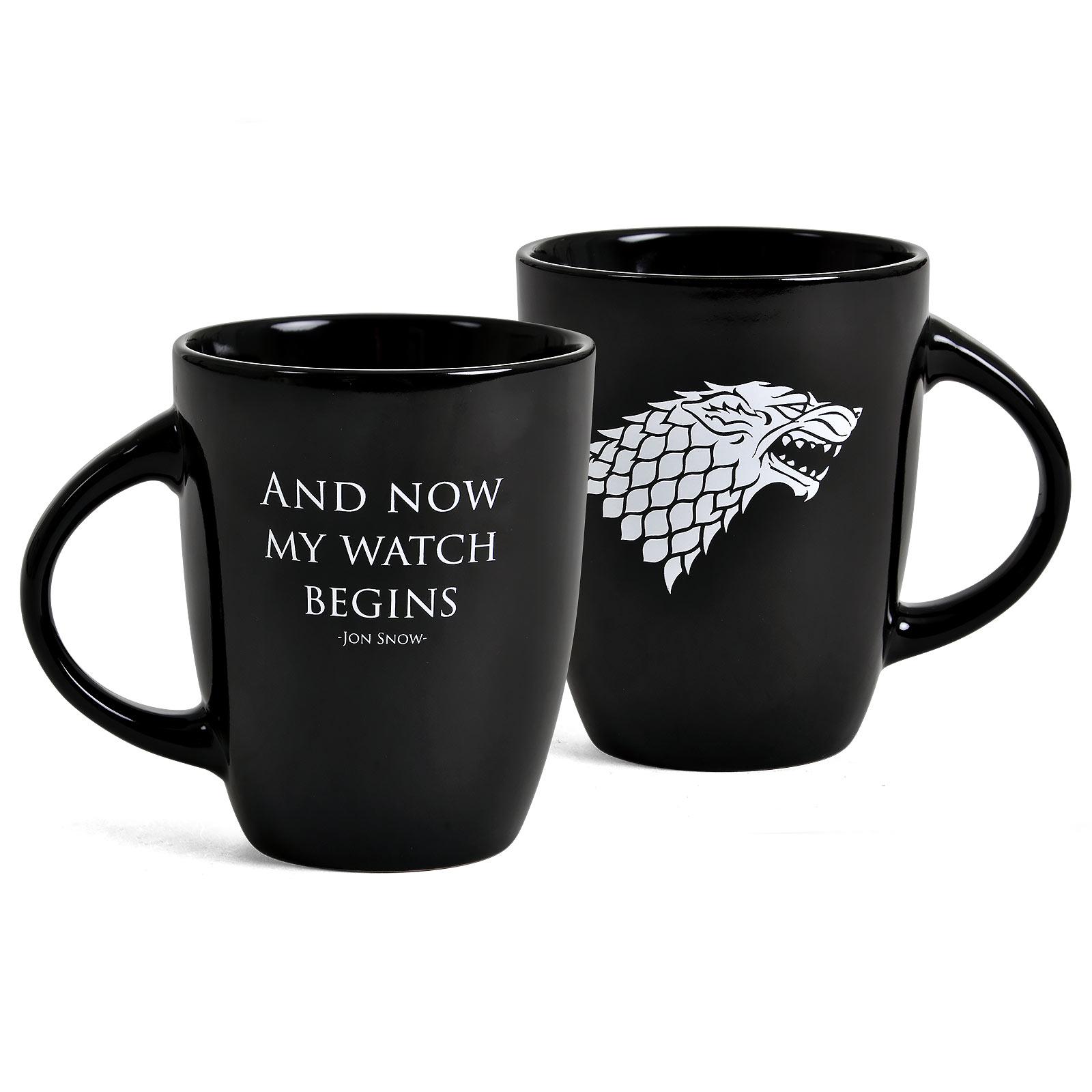 Game of Thrones - My Watch Begins Noble Words Tasse