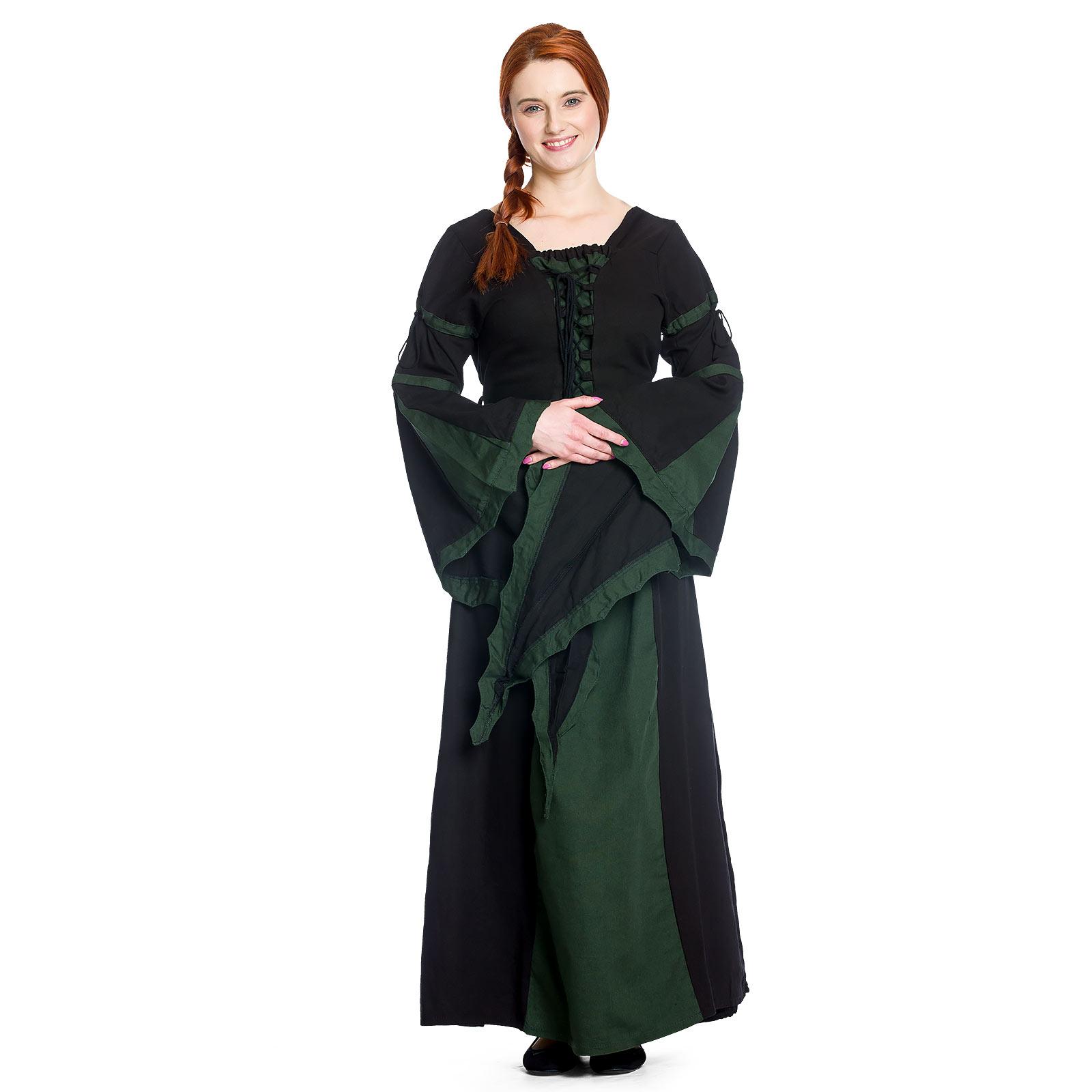 Leona - Mittelalterkleid schwarz-grün