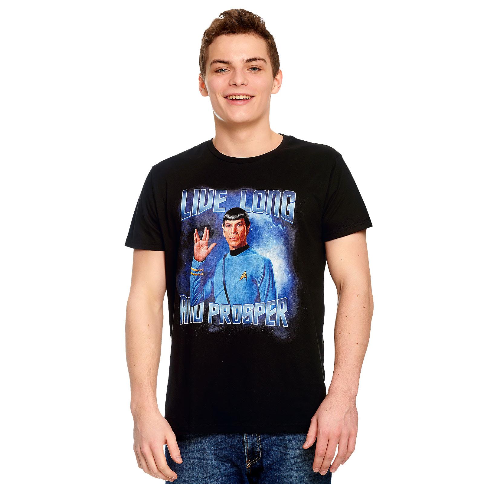 Star Trek - Spock Live Long and Prosper T-Shirt schwarz