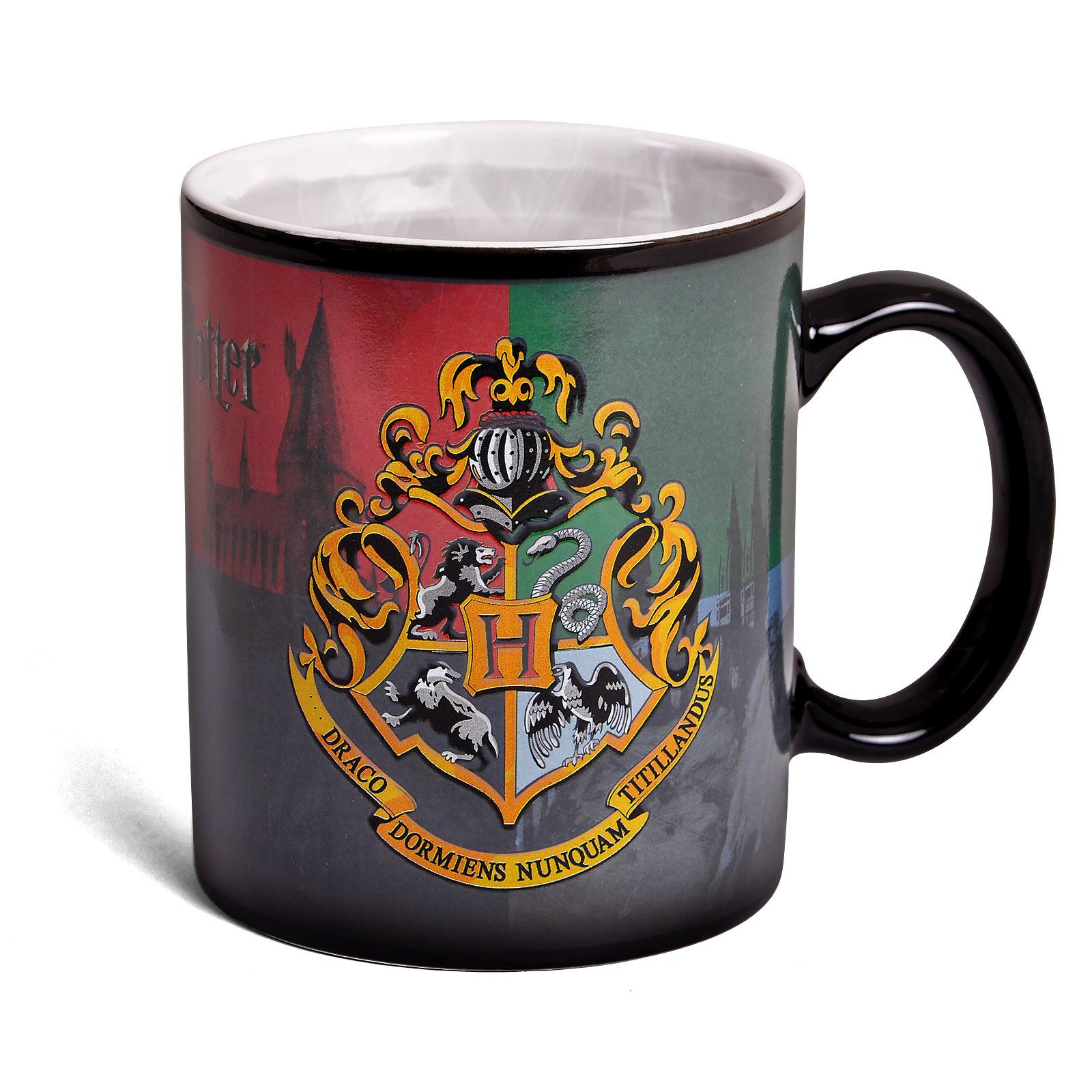 Harry Potter - Hogwarts Wappen Thermoeffekt Tasse
