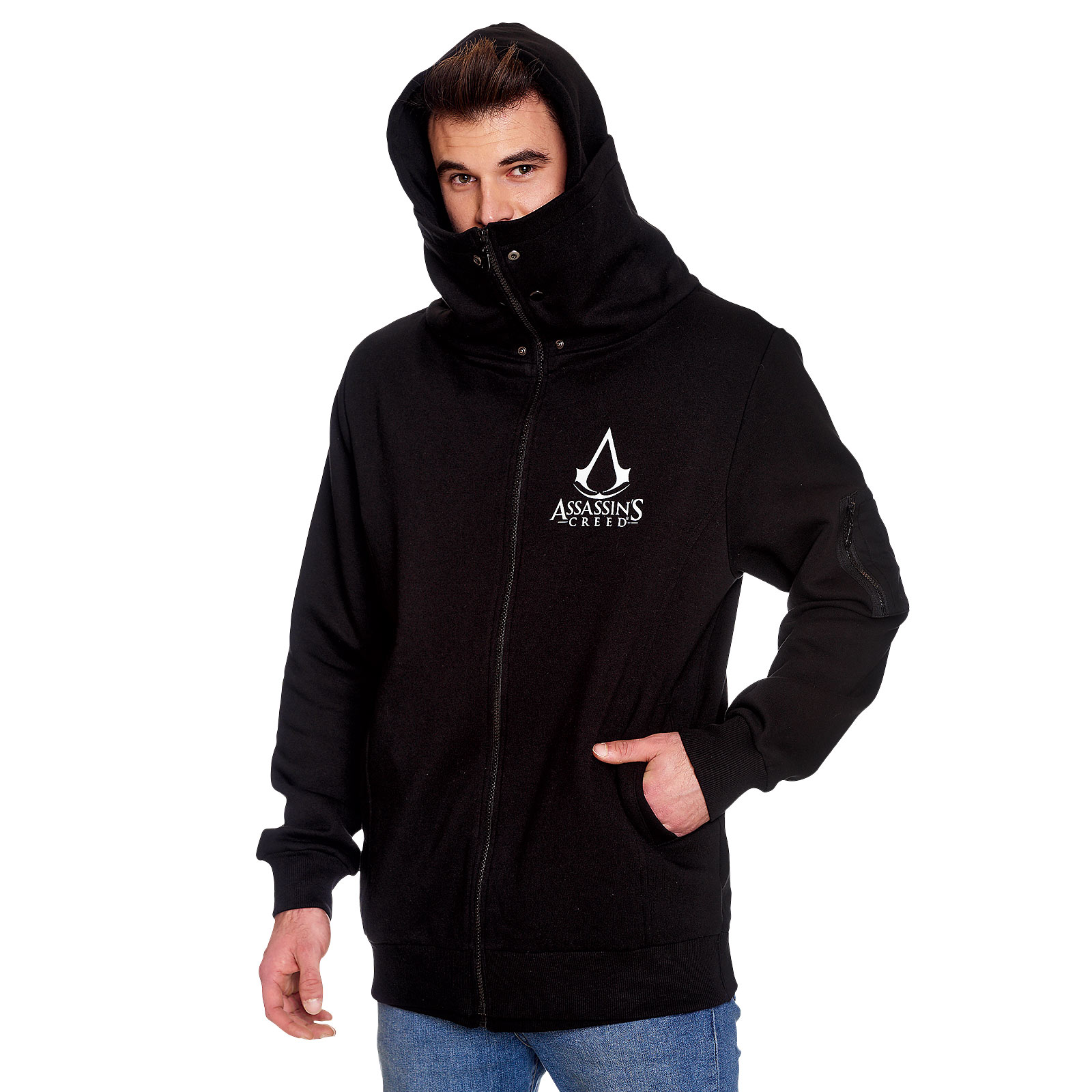 Assassins Creed - Logo Kapuzenjacke doppellagig schwarz