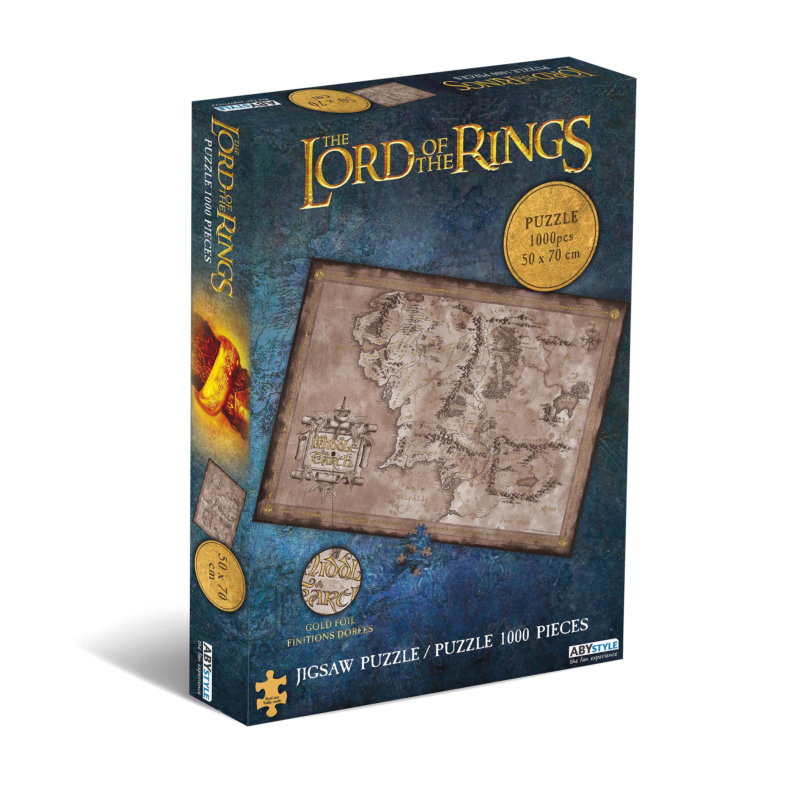 Herr der Ringe - Karte von Mittelerde Puzzle