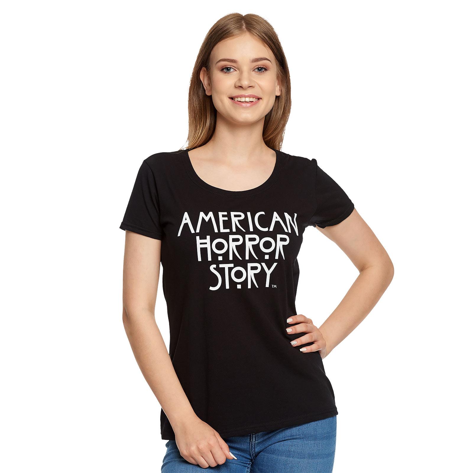 American Horror Story - Logo T-Shirt Damen schwarz