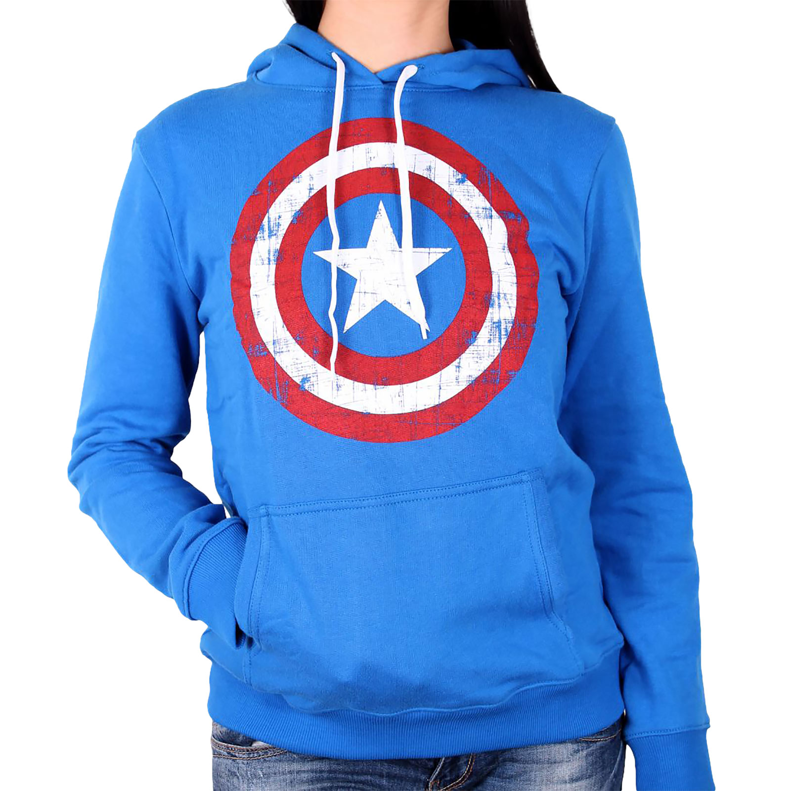 Captain America - Shield Hoodie Damen blau