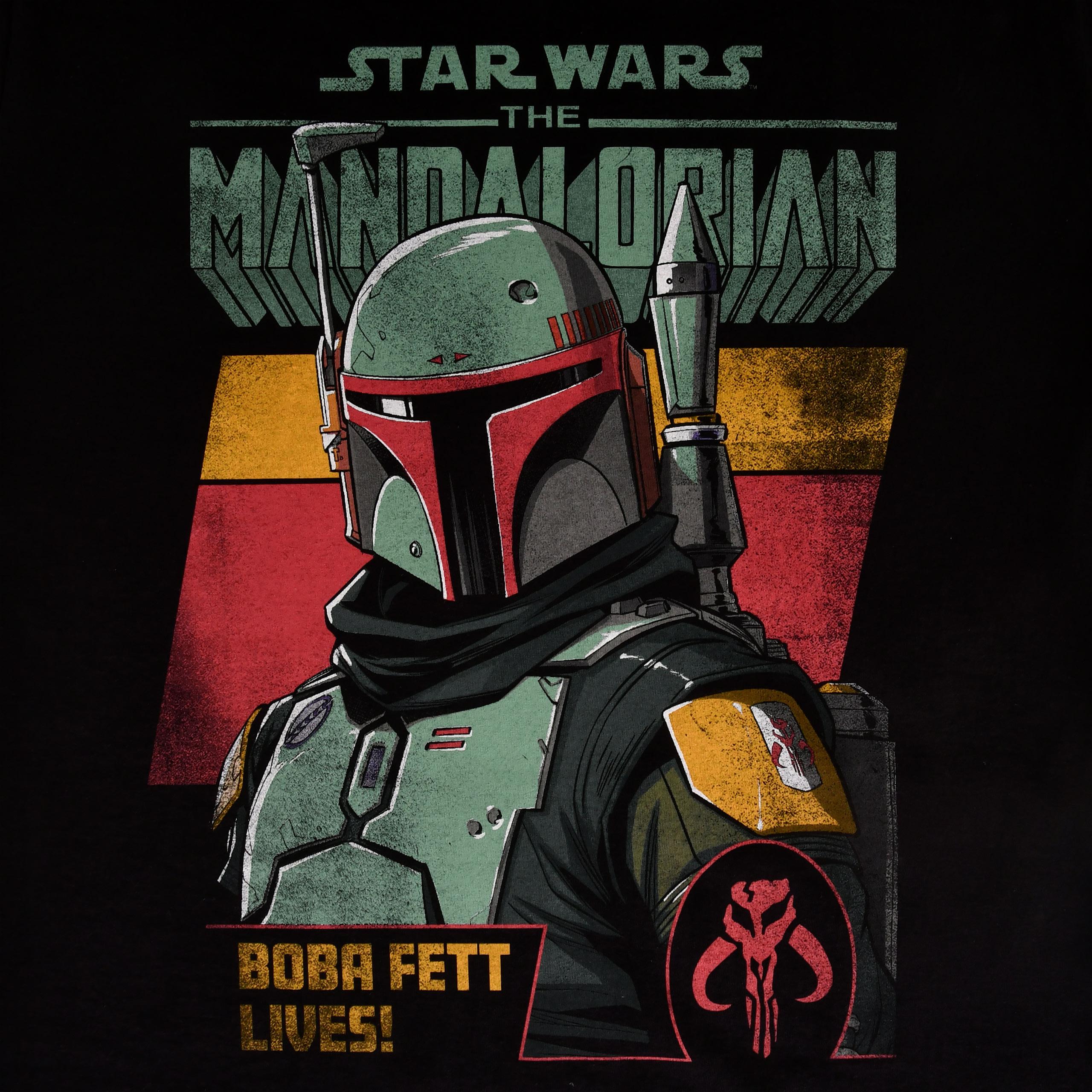 Boba Fett Lives T-Shirt schwarz - Star Wars Mandalorian