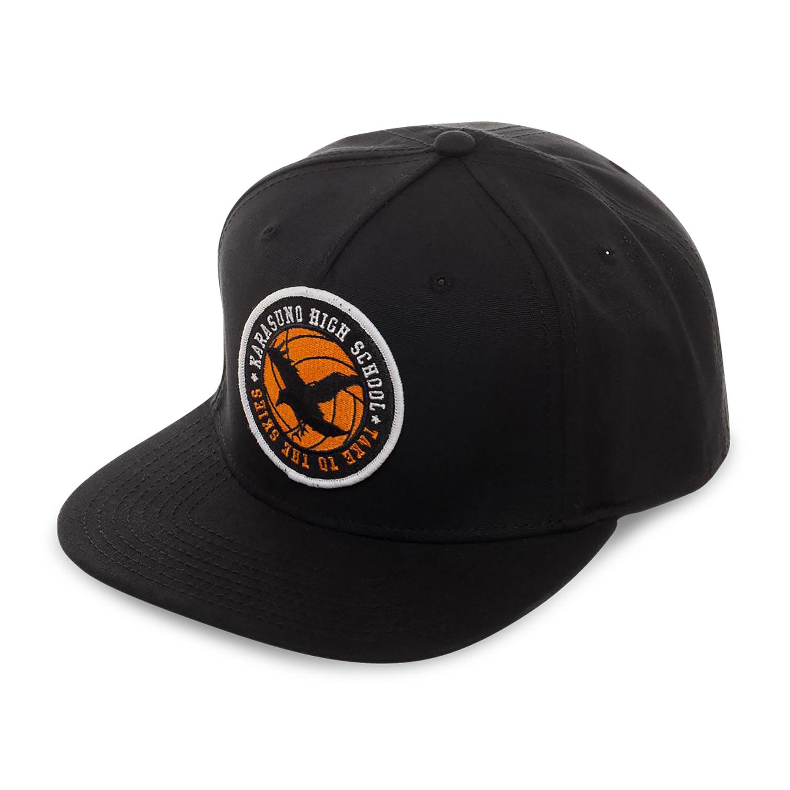 Haikyu!! - Crows High School Logo Snapback Cap schwarz