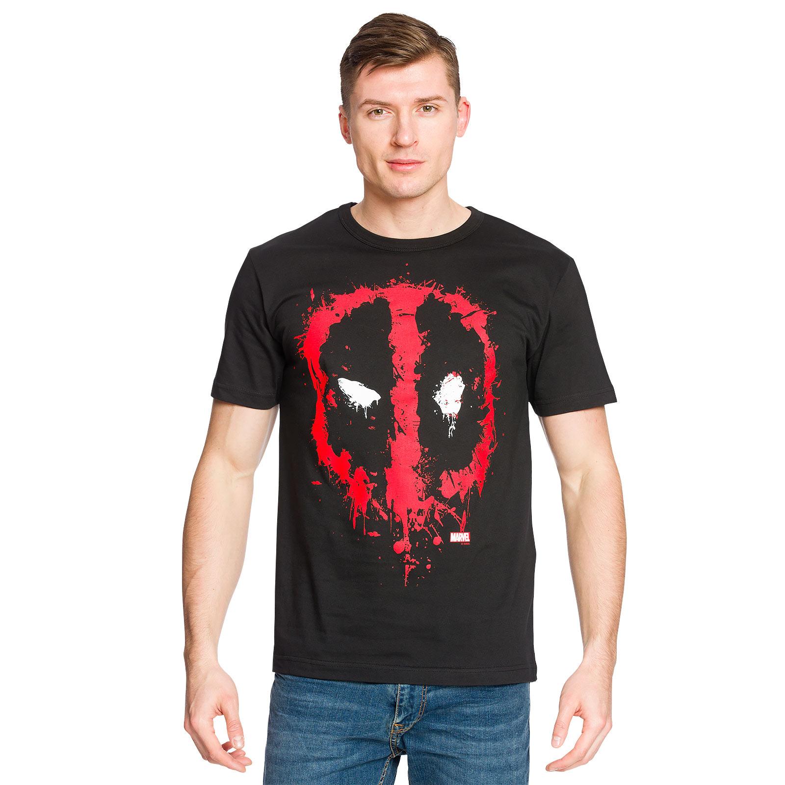 Deadpool - Happy Face T-Shirt schwarz