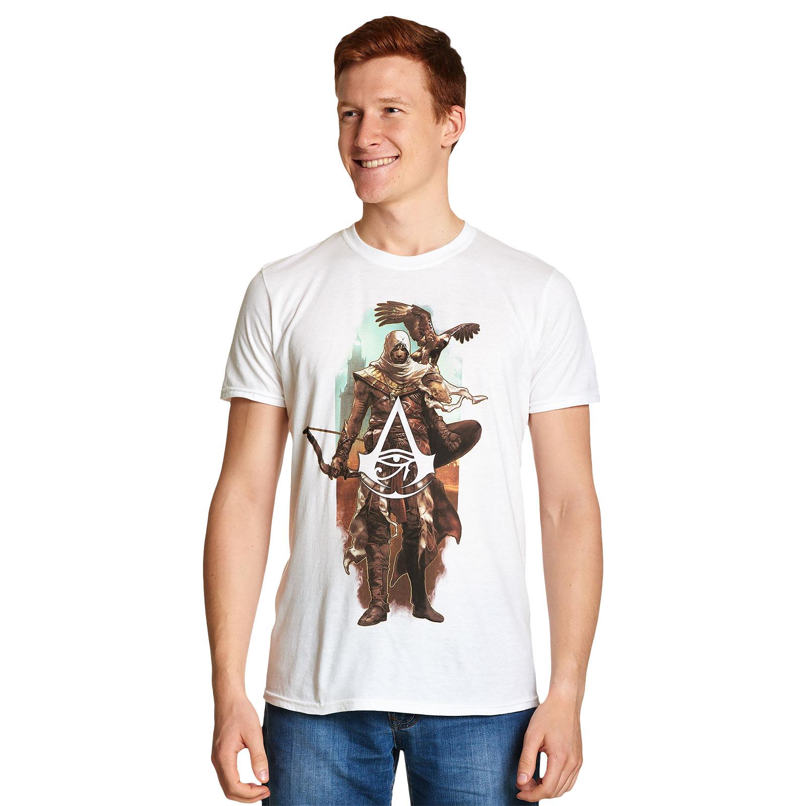 Assassins Creed - Bayek mit Senu T-Shirt weiß