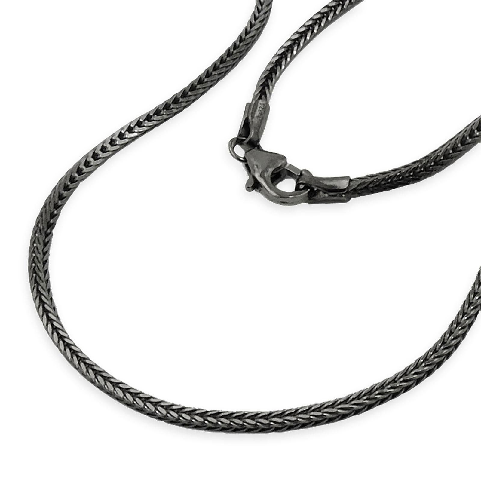 Fuchsschwanzkette schwarz 42 cm