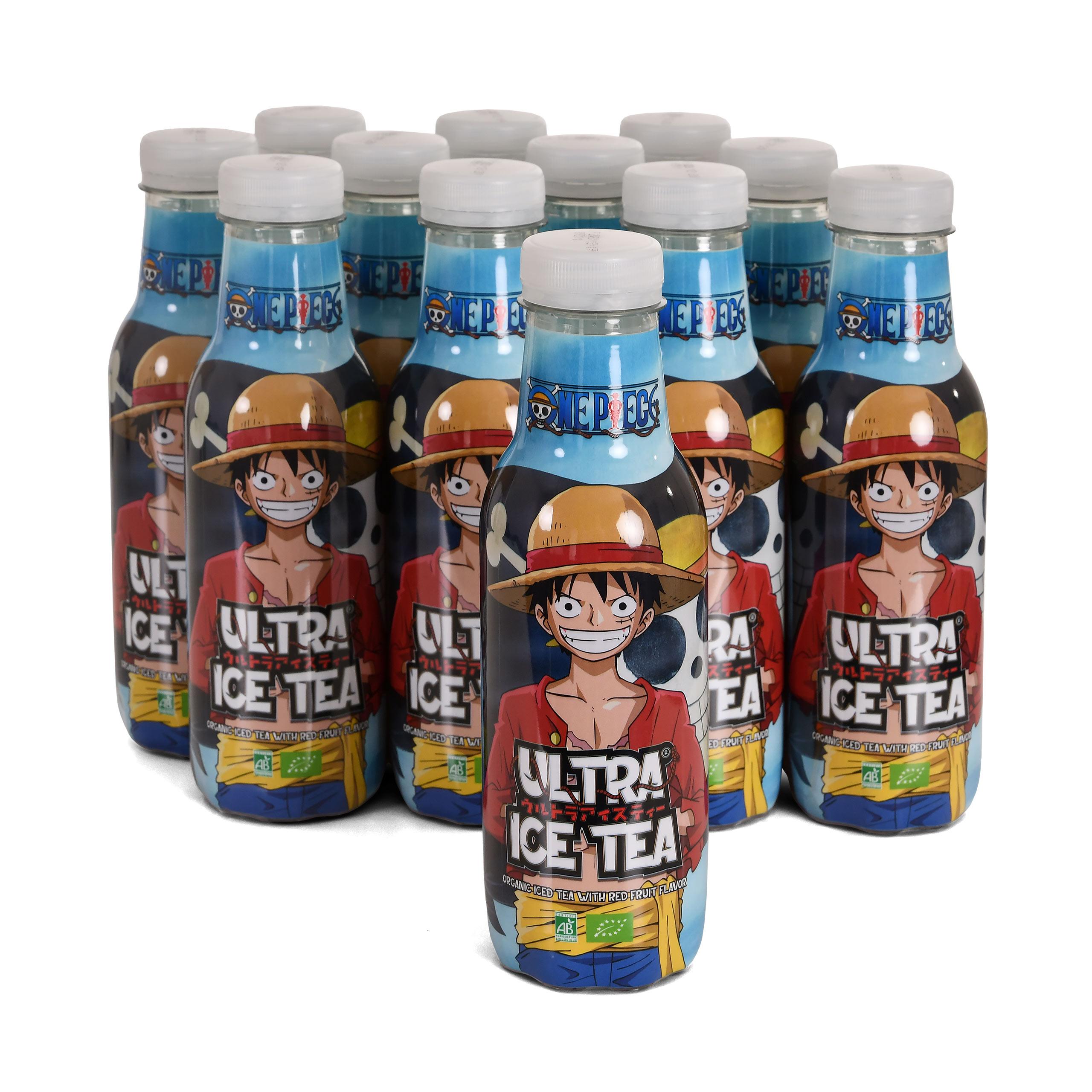 One Piece - Ruffy Ultra Bio Eistee Rote Früchte 12er Pack