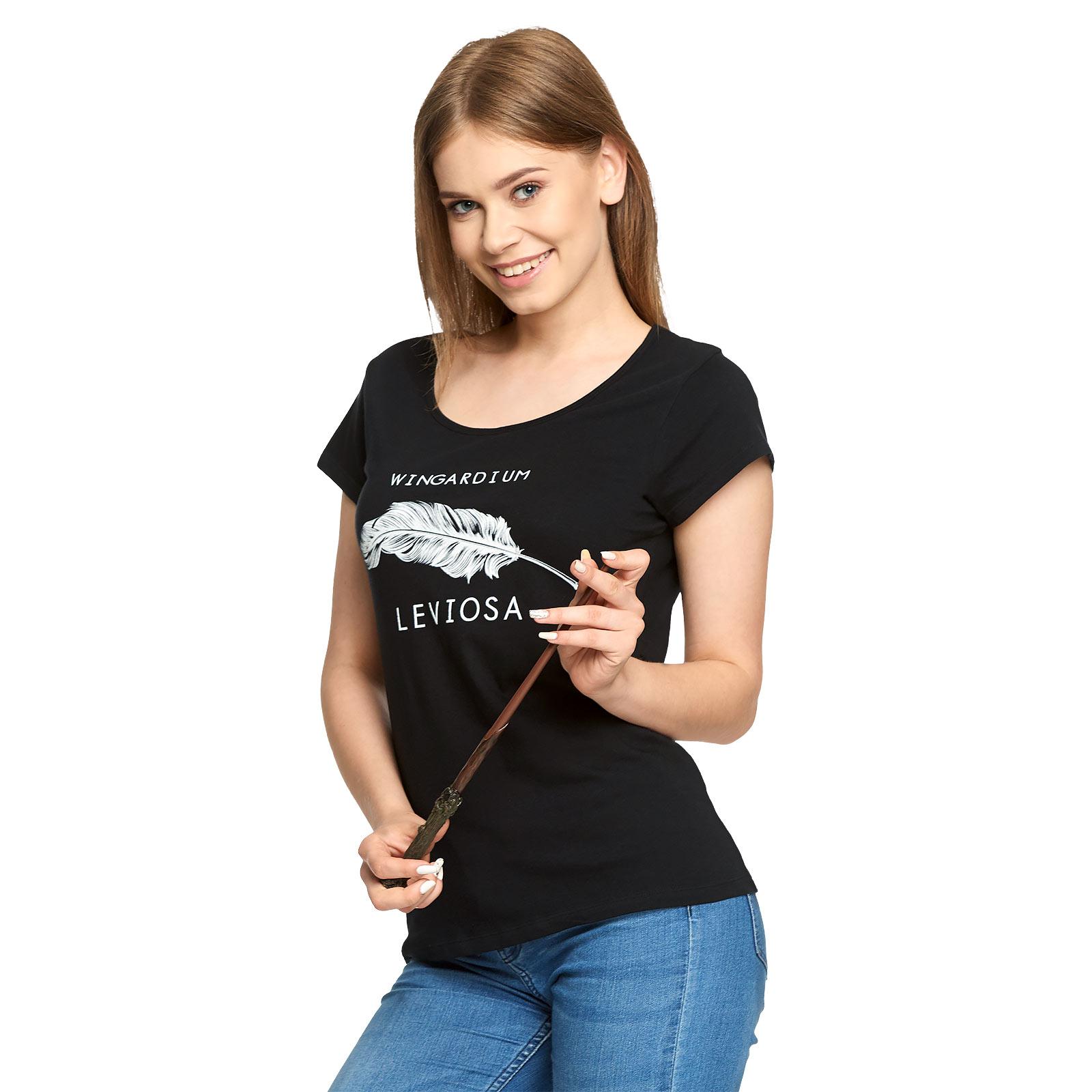 Harry Potter - Wingardium Leviosa T-Shirt Damen schwarz