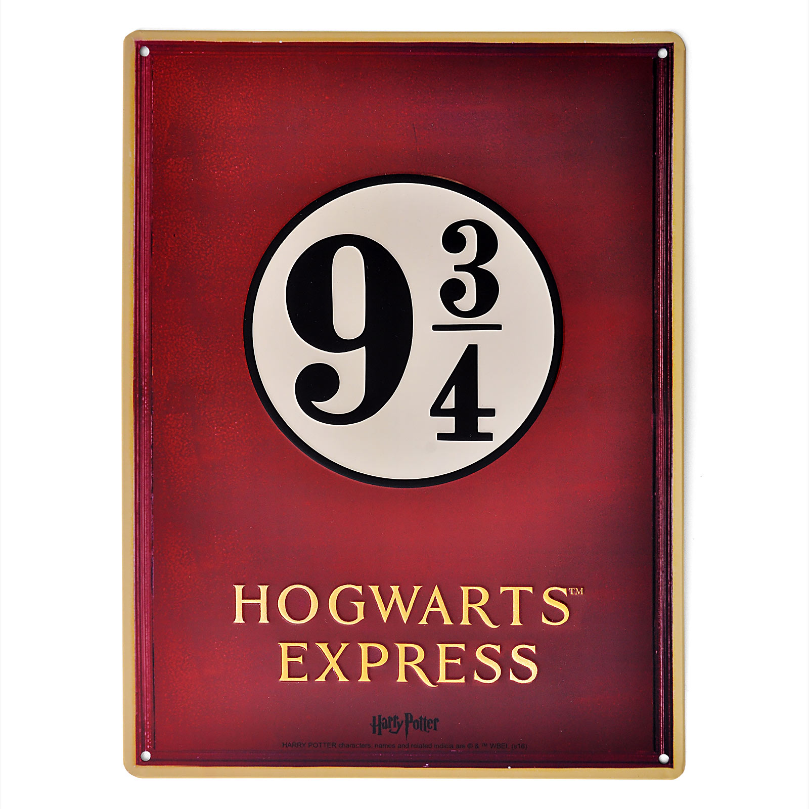 Harry Potter - Gleis 9 3/ 4 Hogwarts Express Schild