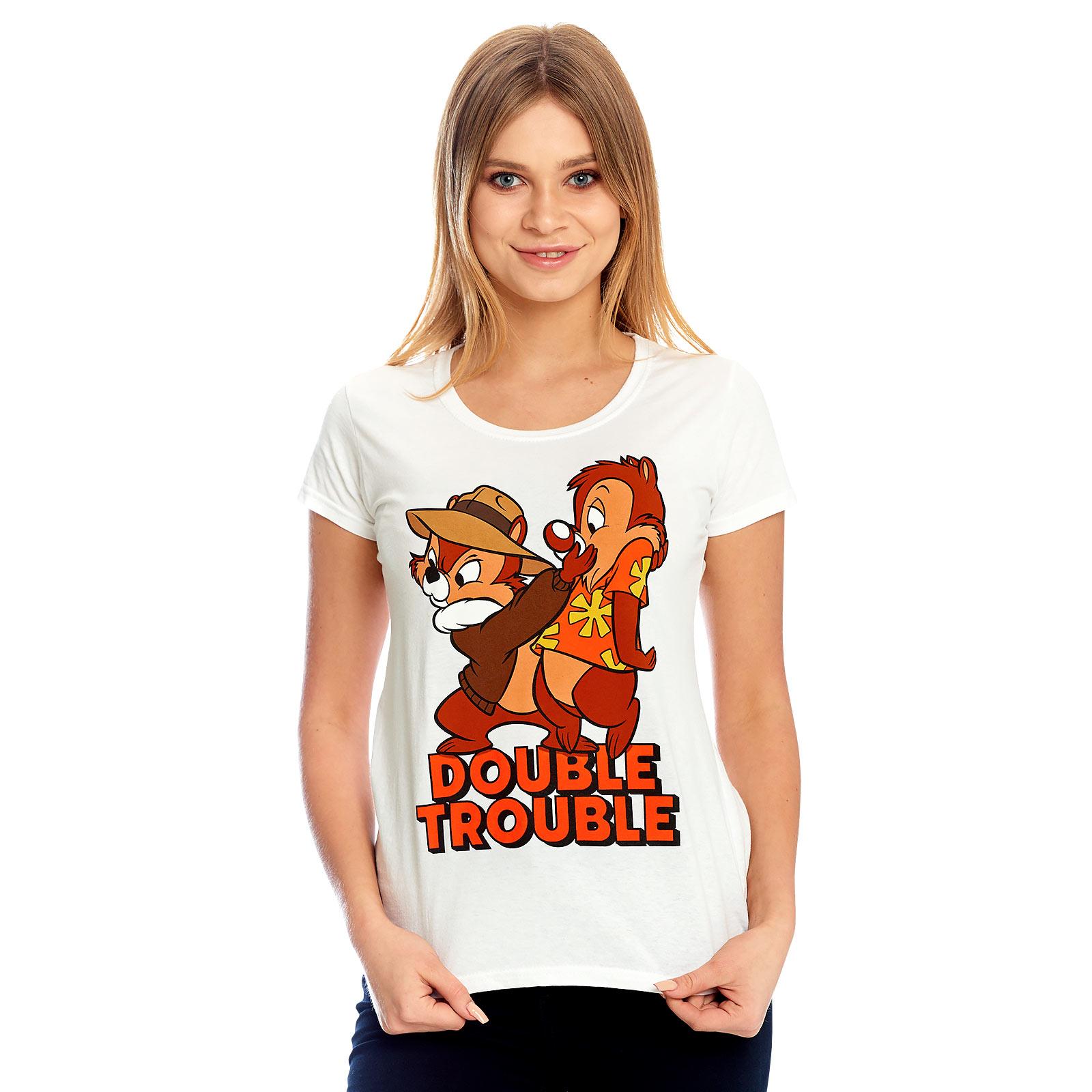 Chip und Chap - Double Trouble T-Shirt Damen weiß