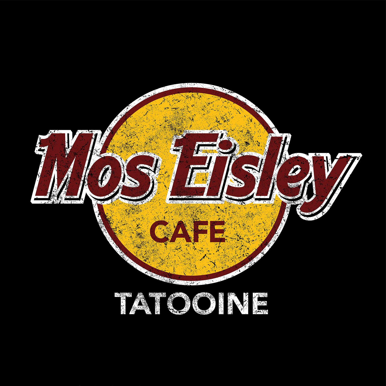 Mos Eisley Cafe T-Shirt für Star Wars Fans schwarz