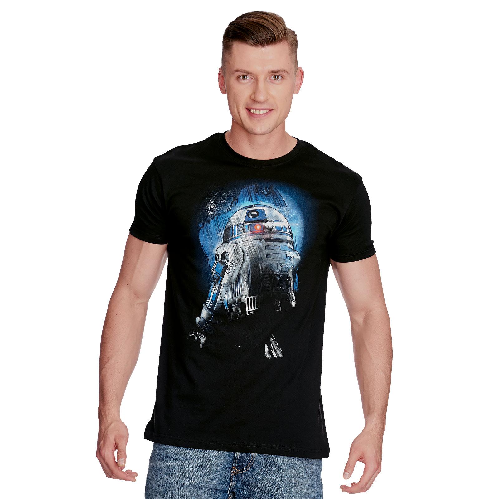 Star Wars - R2-D2 Droid in the Dark T-Shirt schwarz