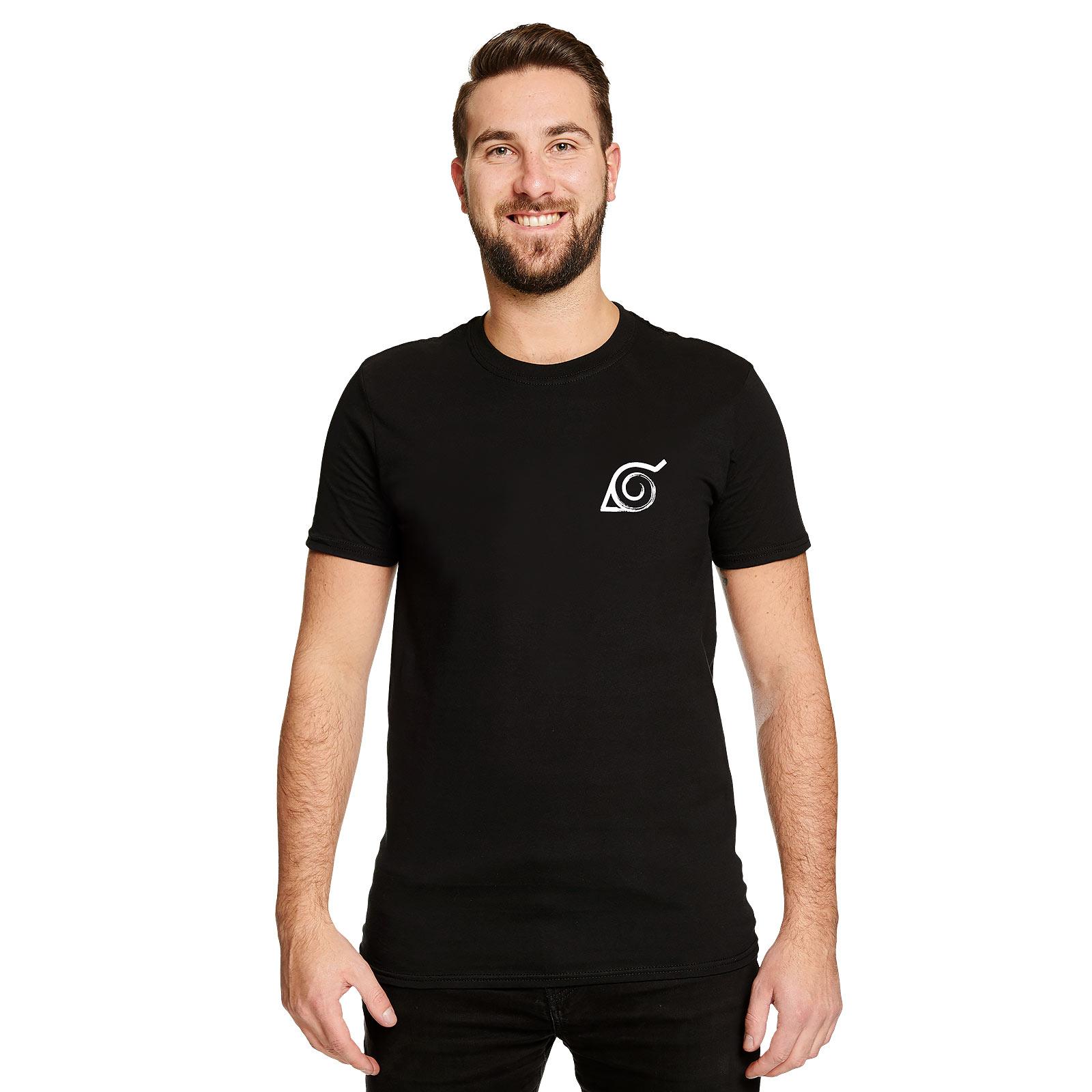 Naruto - Konoha Symbol T-Shirt schwarz