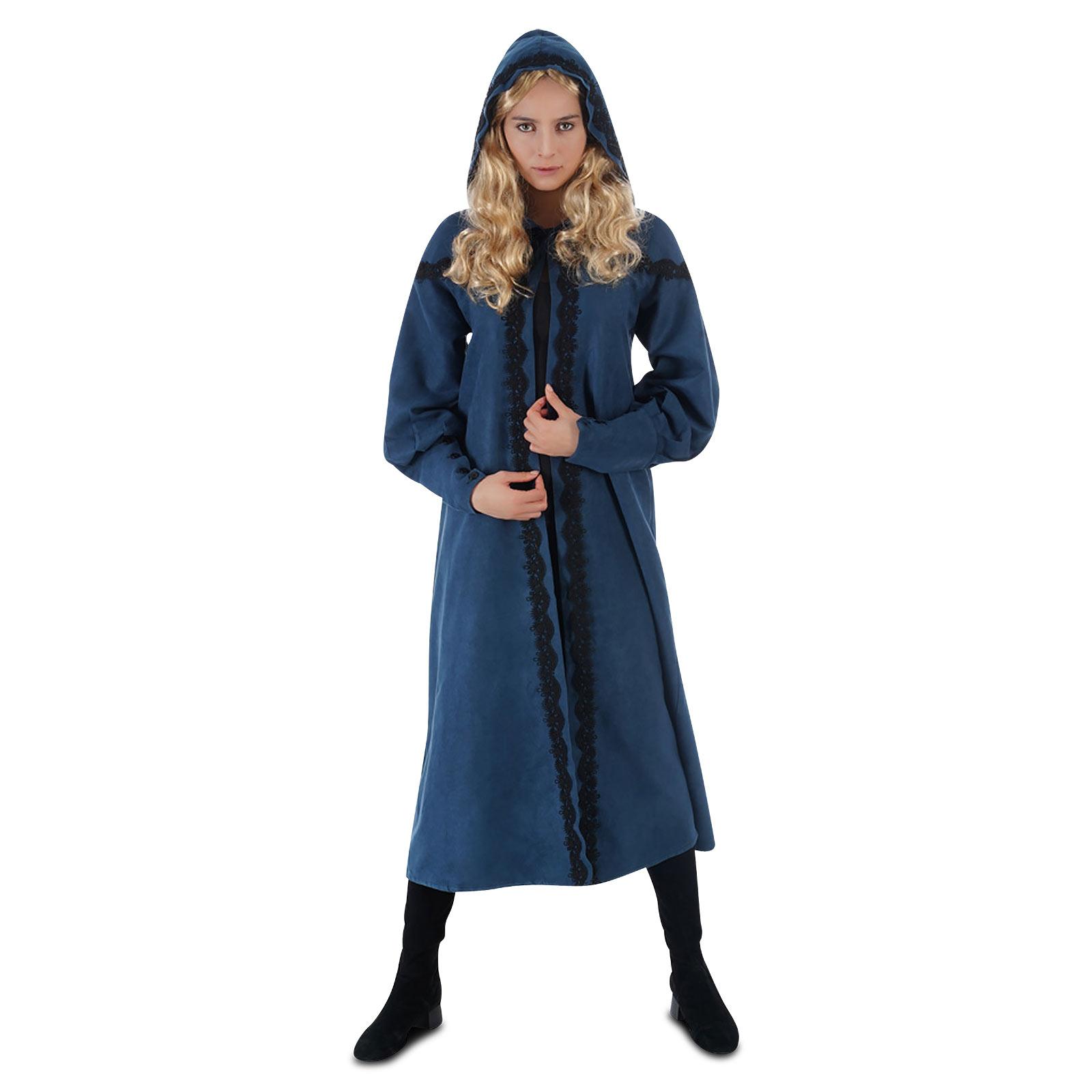 Ciri Kostüm Mantel Damen für Witcher Fans blau