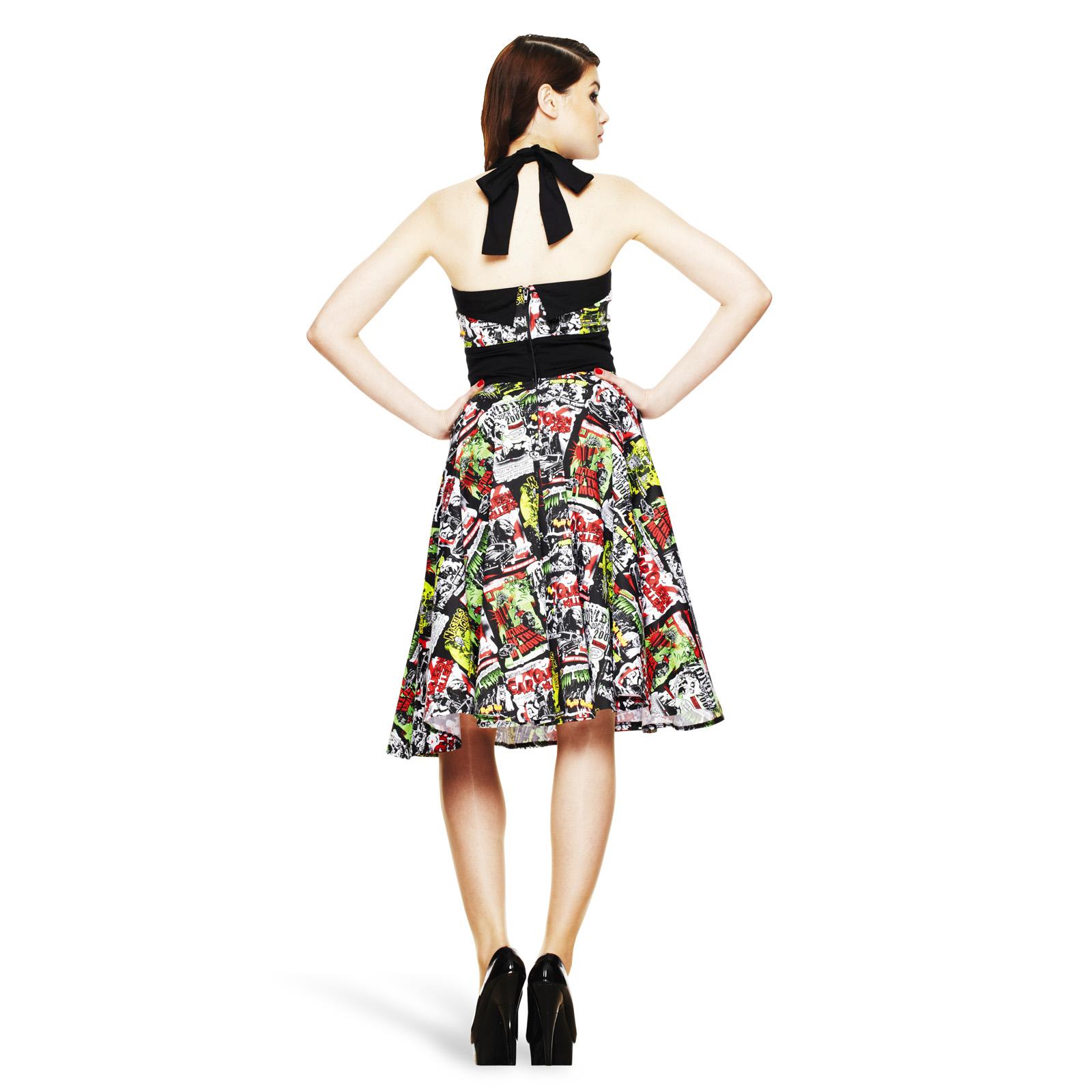 Rockabilly Neckholder Kleid B-Movie