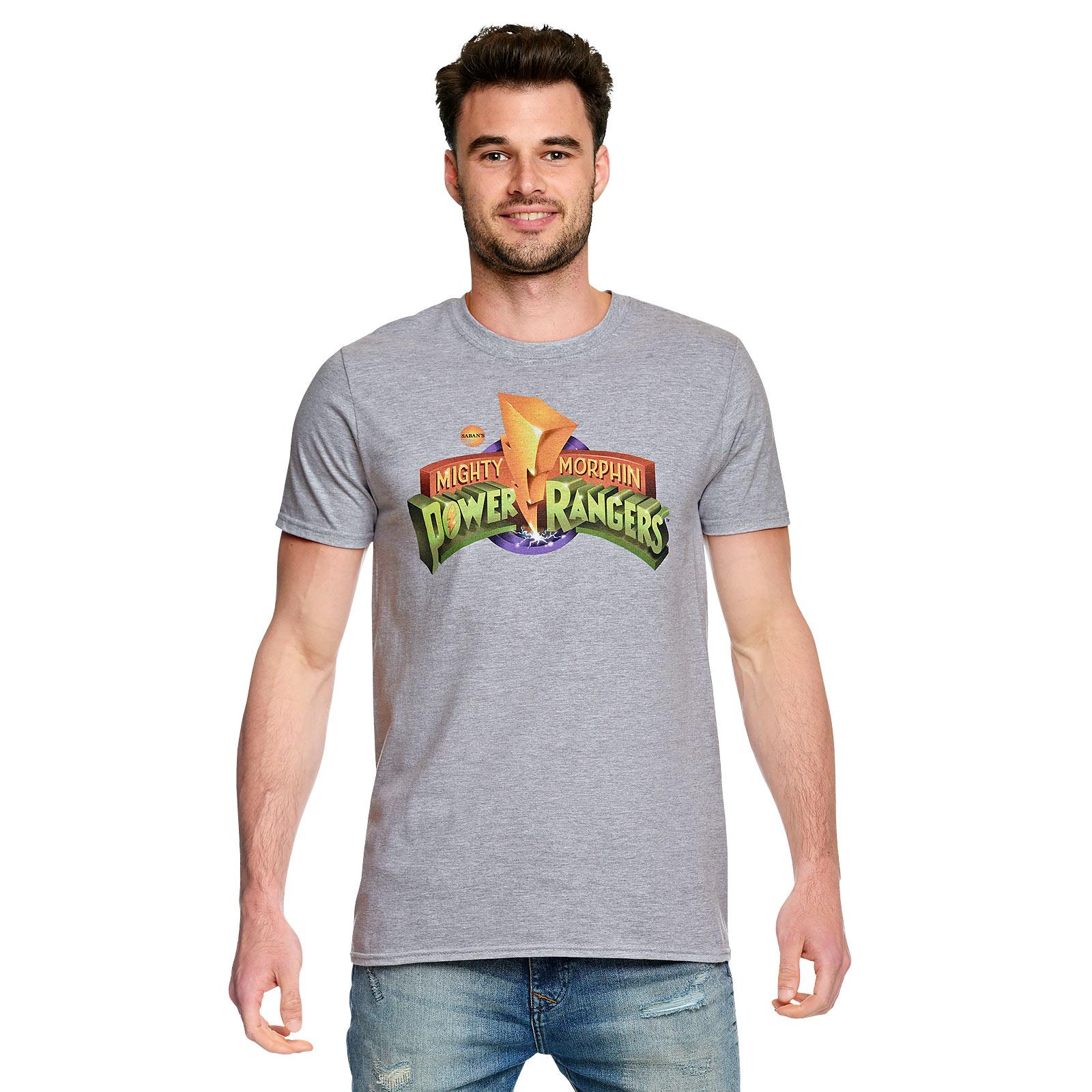 Power Rangers - Logo T-Shirt grau