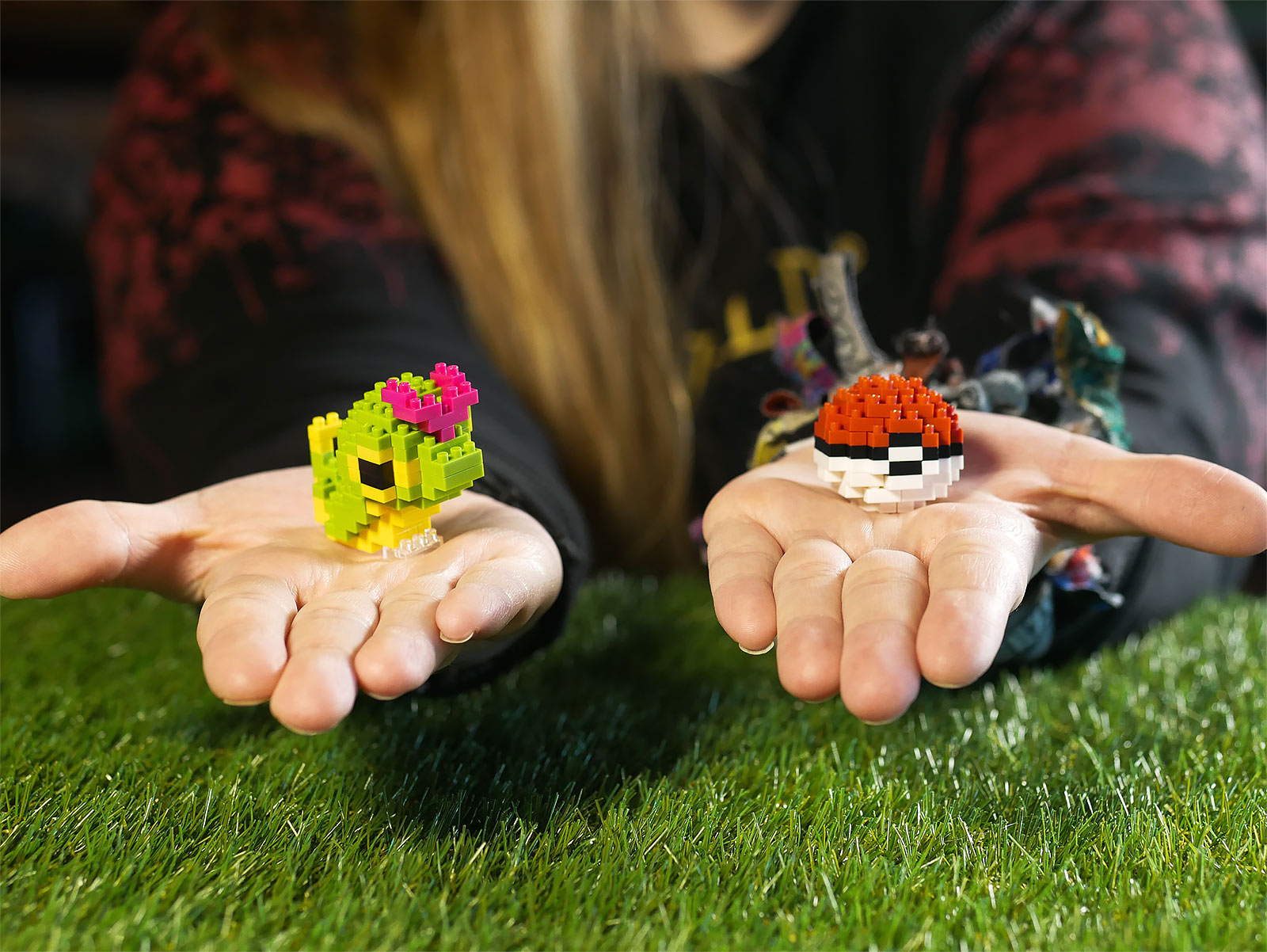 Pokemon - Raupy mit Pokeball nanoblock Mini Baustein Figuren Set