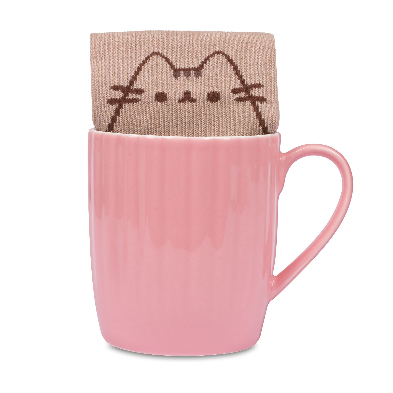 Pusheen - Pink Paw Socken und Tasse