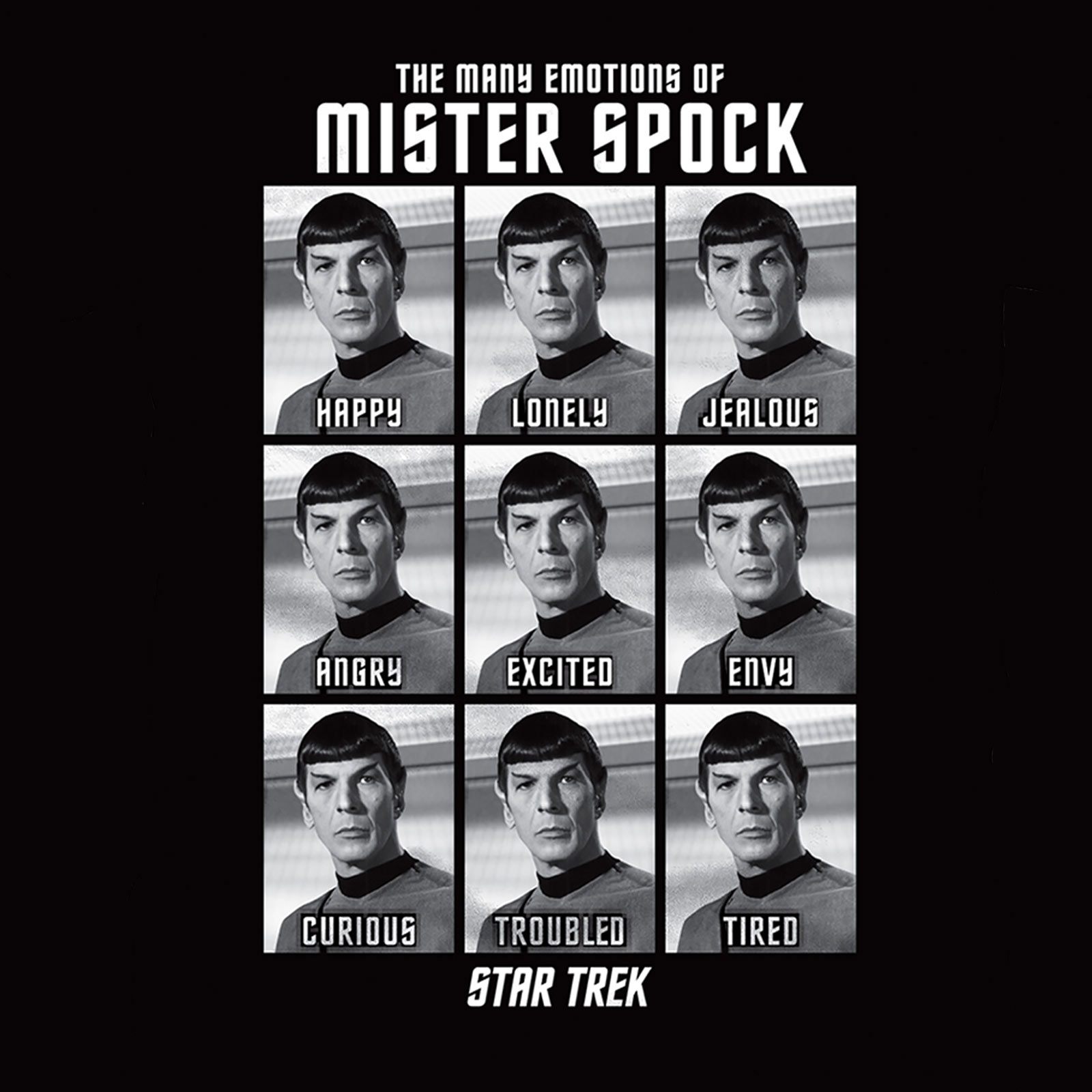 Star Trek - Emotions of Mister Spock T-Shirt schwarz