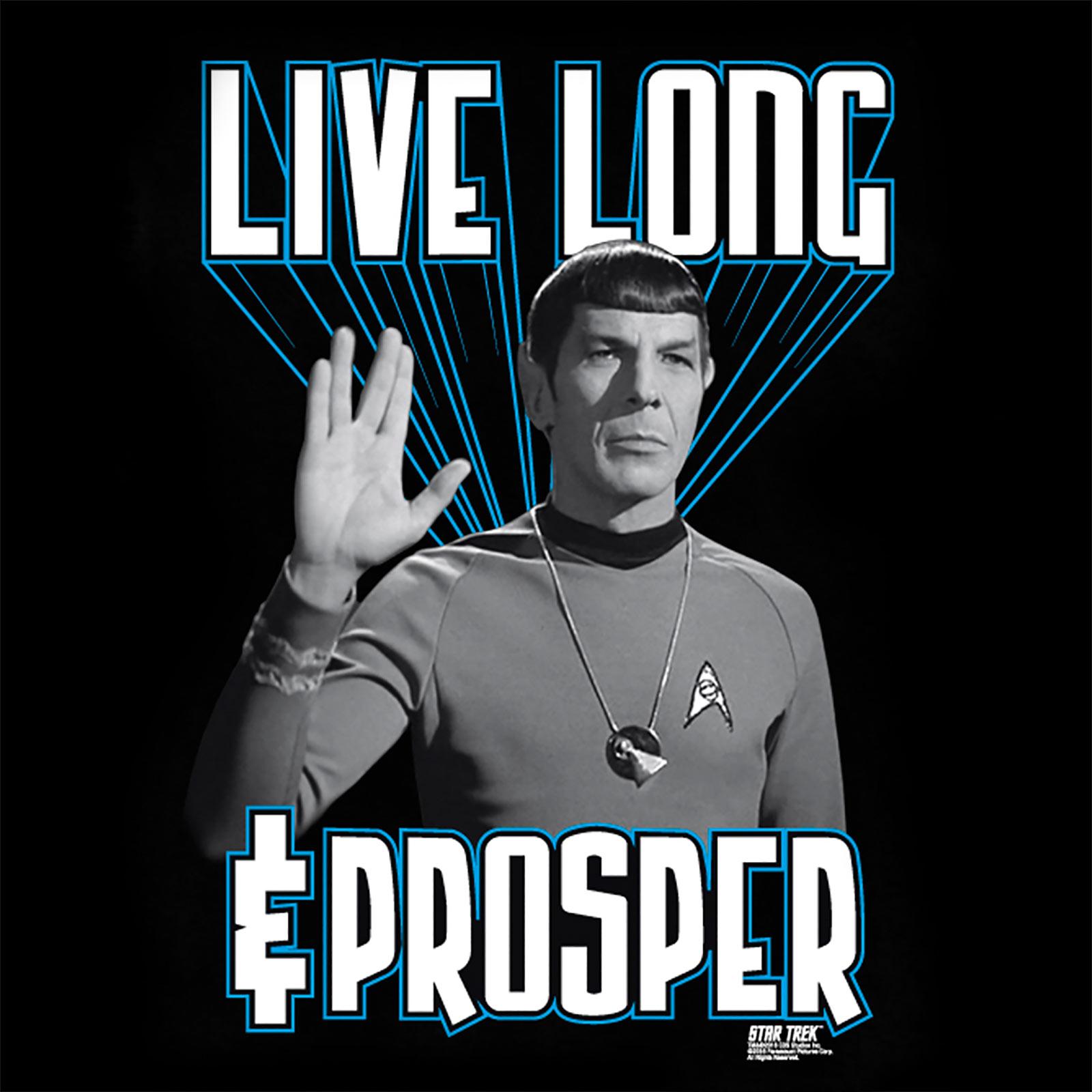 Star Trek - Live Long And Prosper Spock T-Shirt schwarz